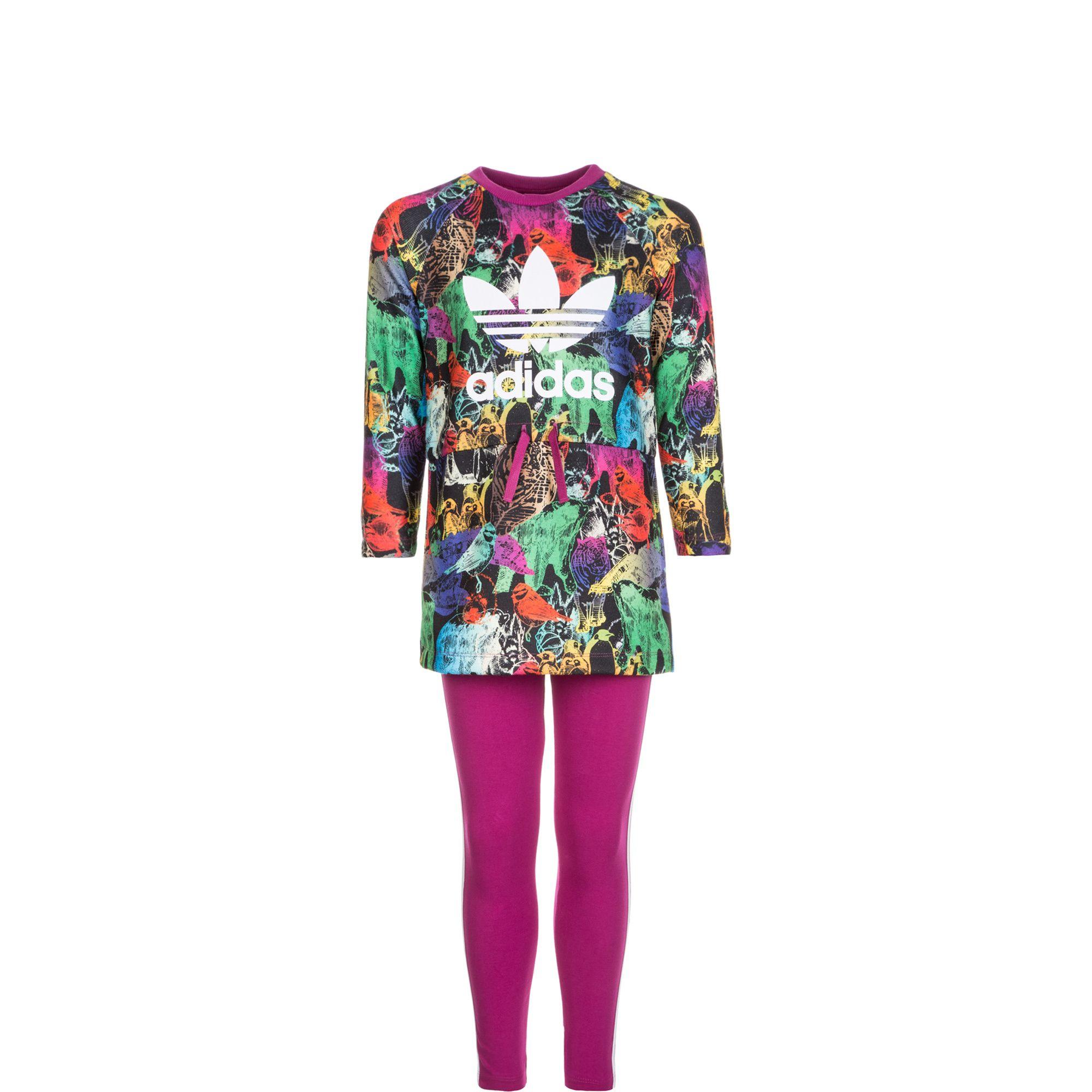 ADIDAS ORIGINALS adidas Originals Set: Animal Dress Freizeitanzug Kleinkinder (Packung, 2 tlg.)