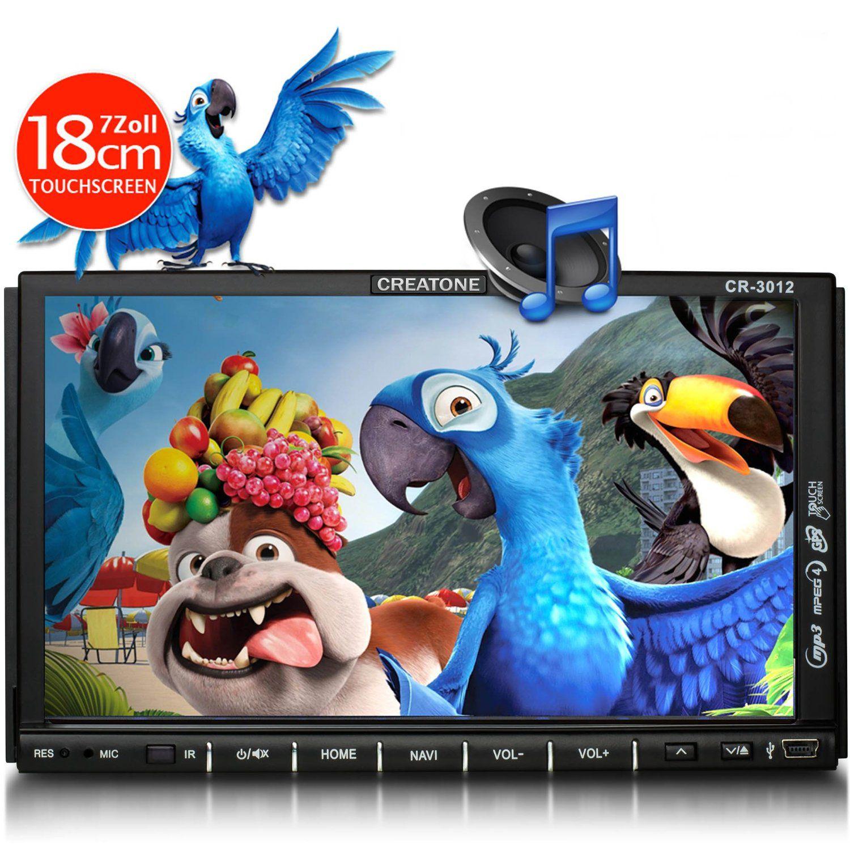 CREATONE Creatone 2-DIN Autoradio, GPS Navigation, Bluetooth & DVD-Player »CR-3012«