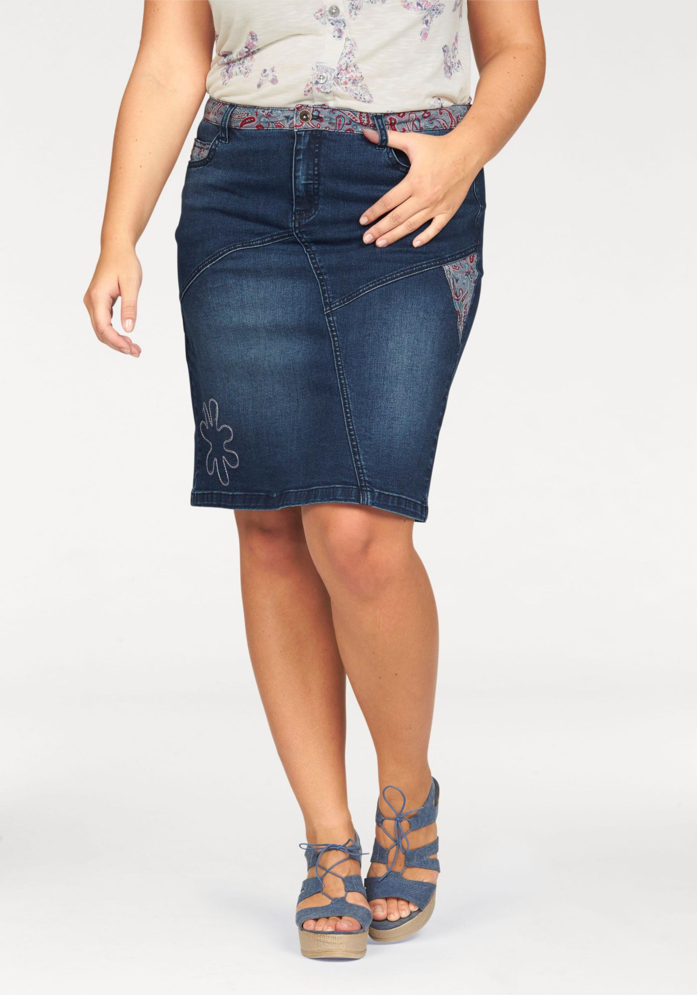 BOYSENS Boysen's Jeansrock »Pencil Skirt«