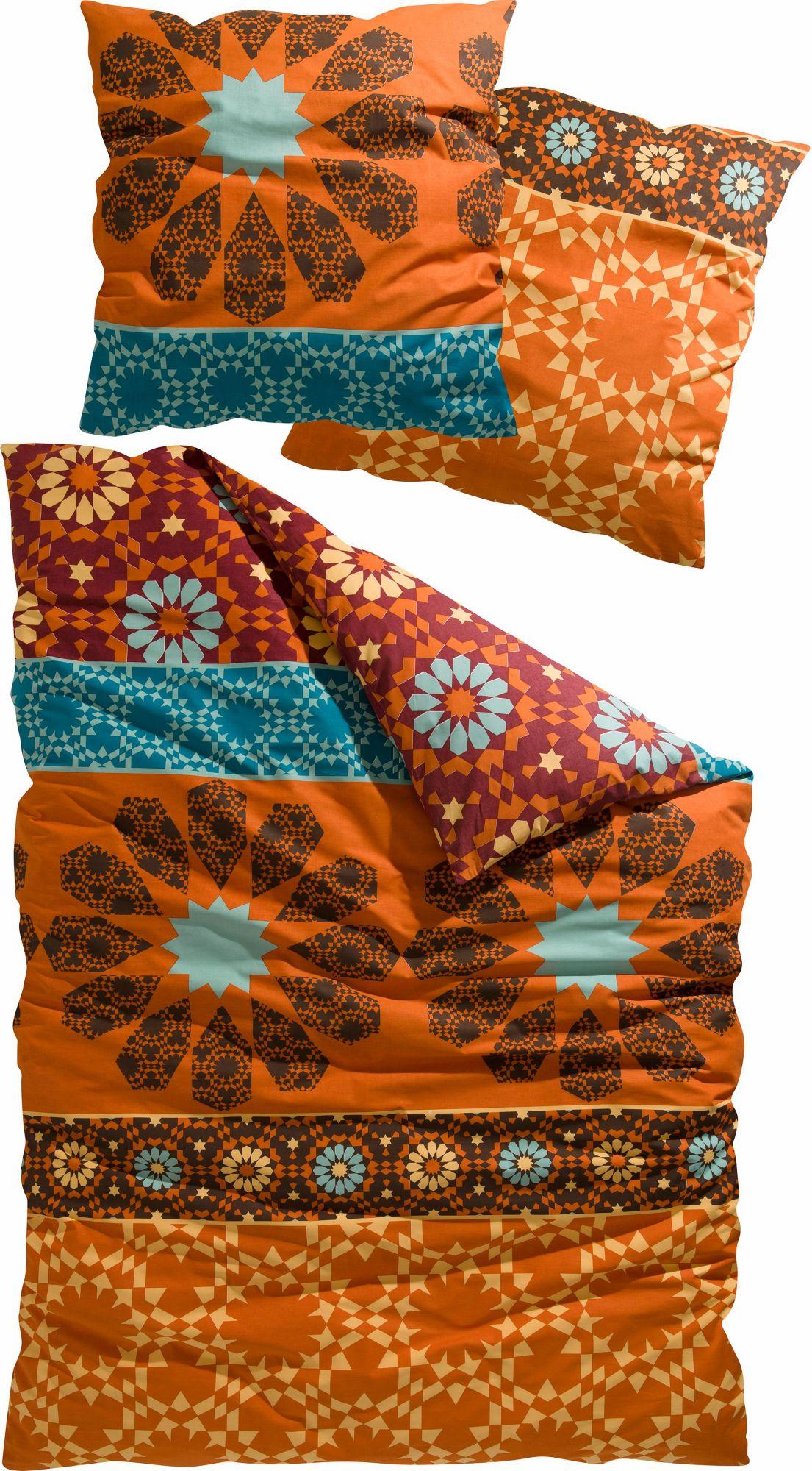 CASATEX Bettwäsche, , »Marrakesch«, mit abstrakten Blüten