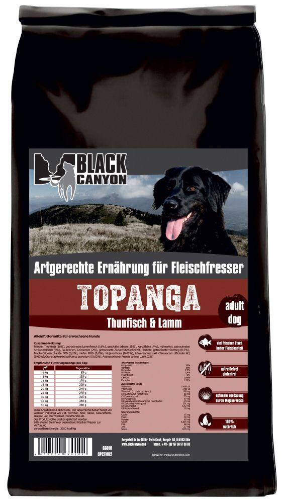 BLACK CANYON Black Canyon Hundetrockenfutter »Topanga Thunfisch & Lamm«, 15 kg