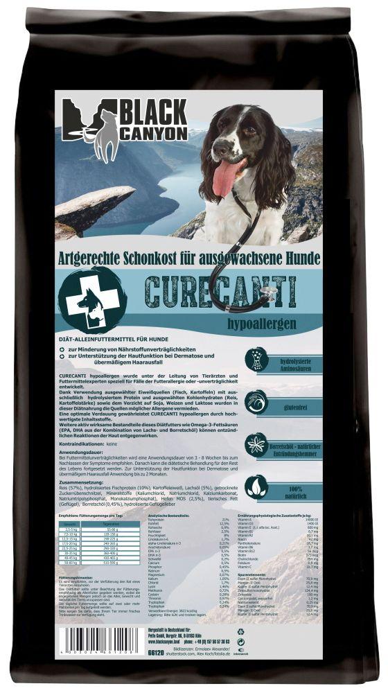 BLACK CANYON Black Canyon Hundetrockenfutter »Curecanti Hypoallergen Fisch & Reis«, 12 kg