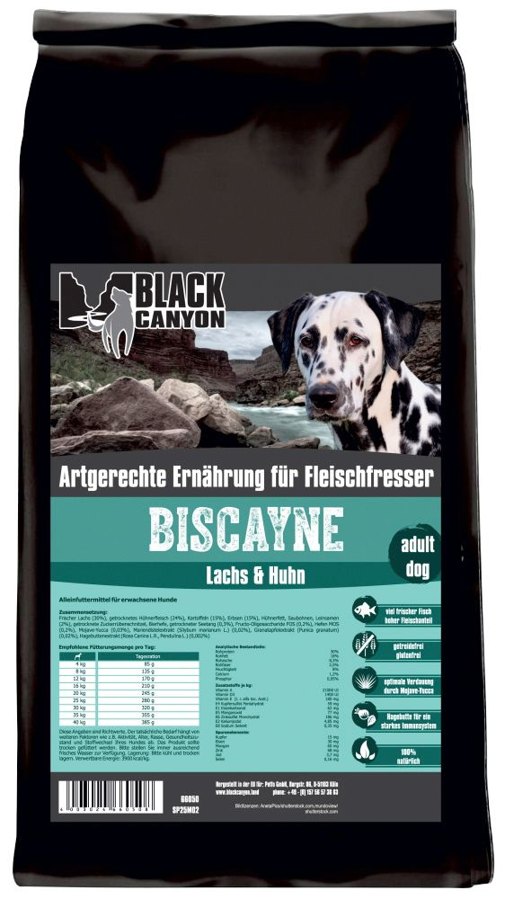 BLACK CANYON Black Canyon Hundetrockenfutter »Biscayne Huhn & Lachs«, 15 kg