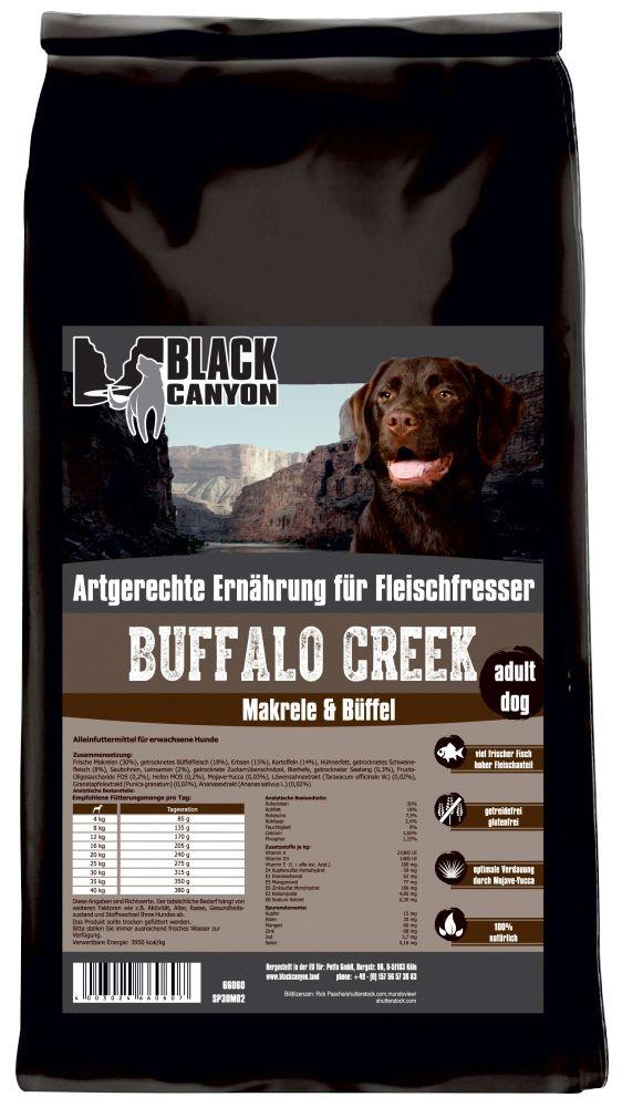 BLACK CANYON Black Canyon Hundetrockenfutter »Buffalo Creek Büffel & Makrele«, 5 kg