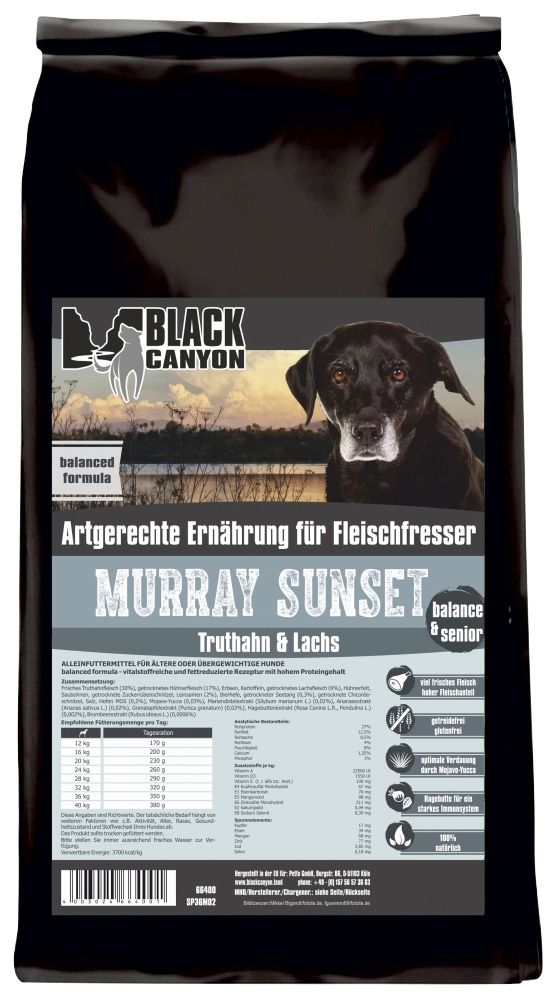 BLACK CANYON Hundetrockenfutter »Murray Sunset Truthahn & Lachs«, 15 kg