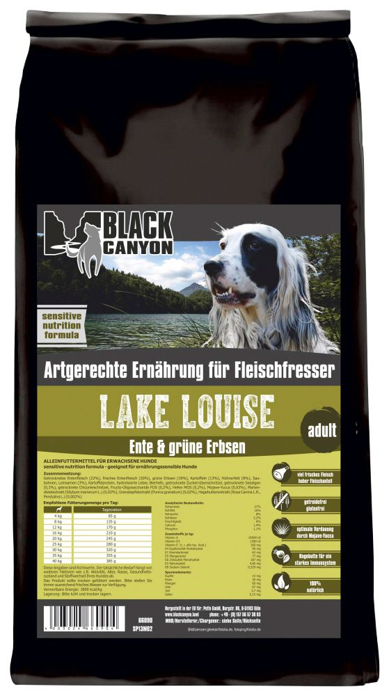 BLACK CANYON Black Canyon Hundetrockenfutter »Lake Louise Ente & grüne Erbsen«, 5 kg
