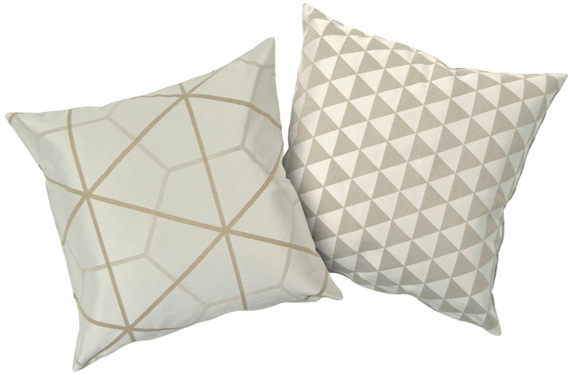HAGEMANN Kissenbezüge, Hagemann, »Minka«, 2 Stück in unterschiedlichem Design