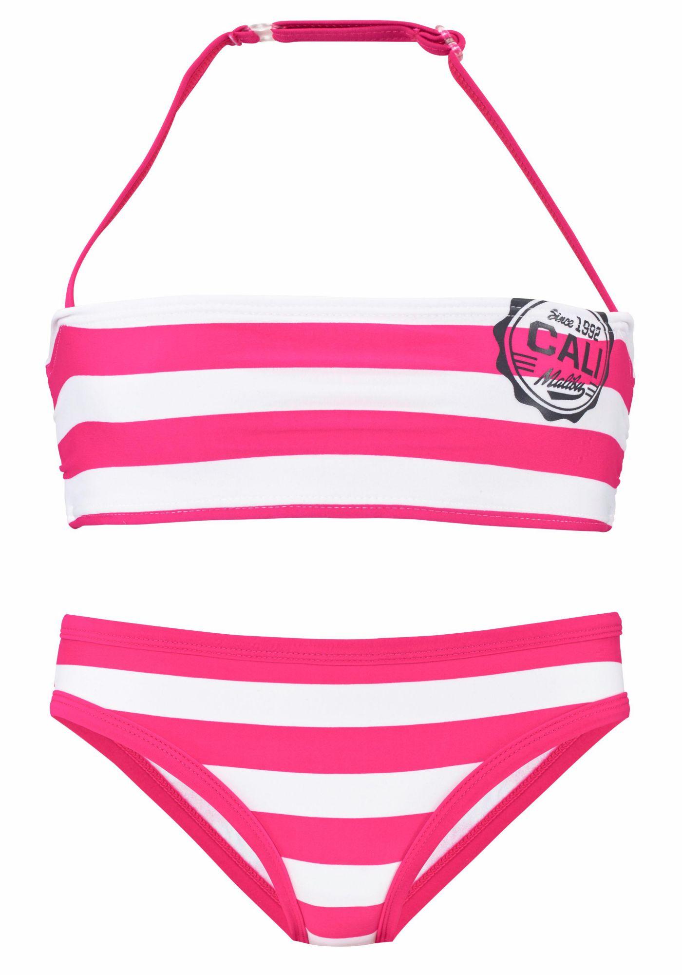 BENCH Bench Bandeau-Bikini mit trendigen Streifen