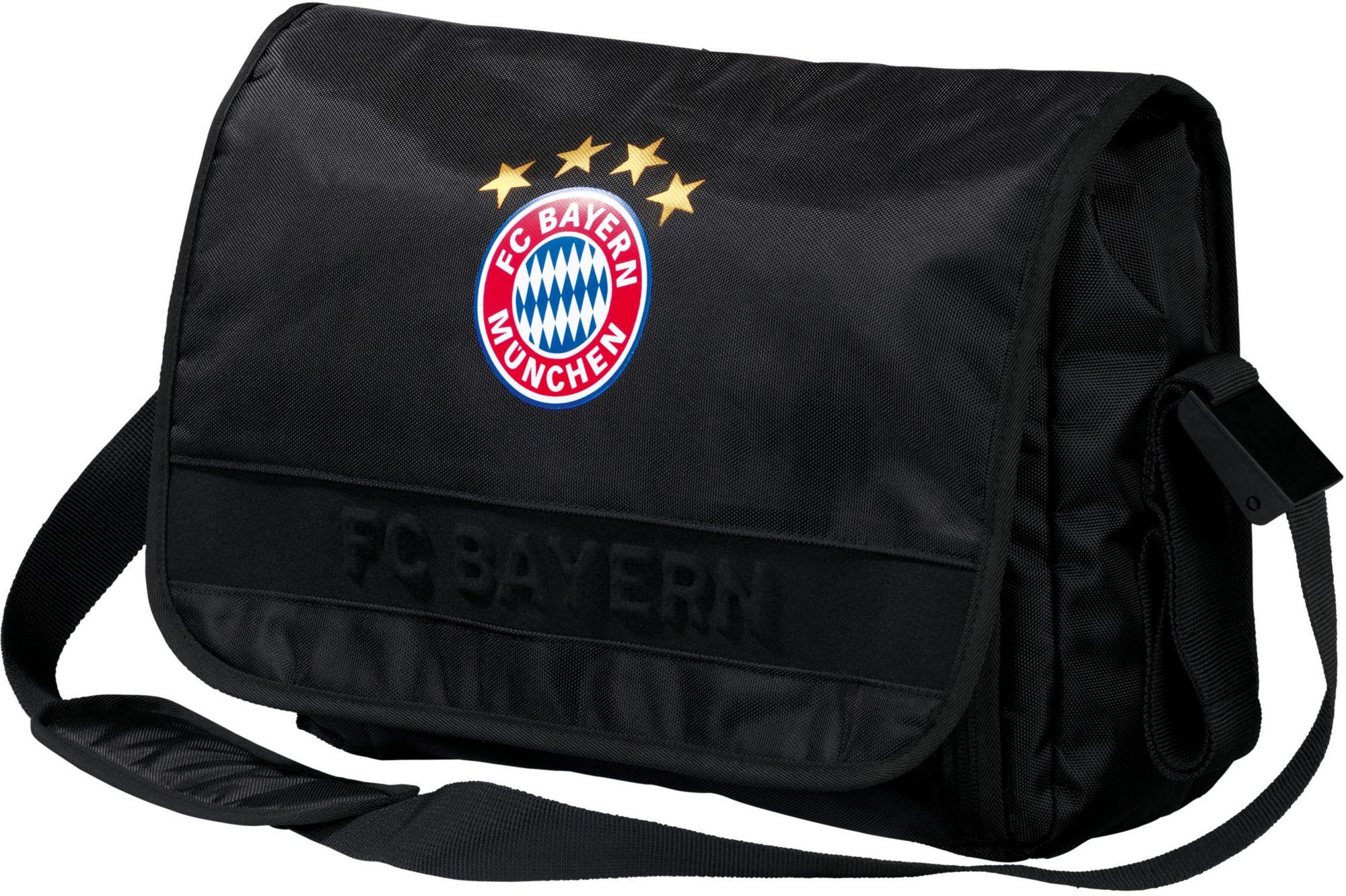 FC BAYERN FC Bayern Umhängetasche mit Laptopfach, »Messenger Bag, schwarz«
