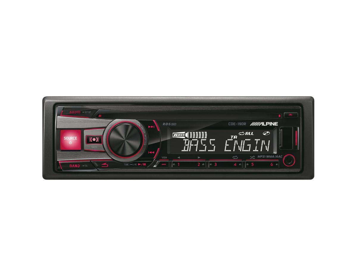 ALPINE  1-DIN CD-Tuner »CDE-190R«
