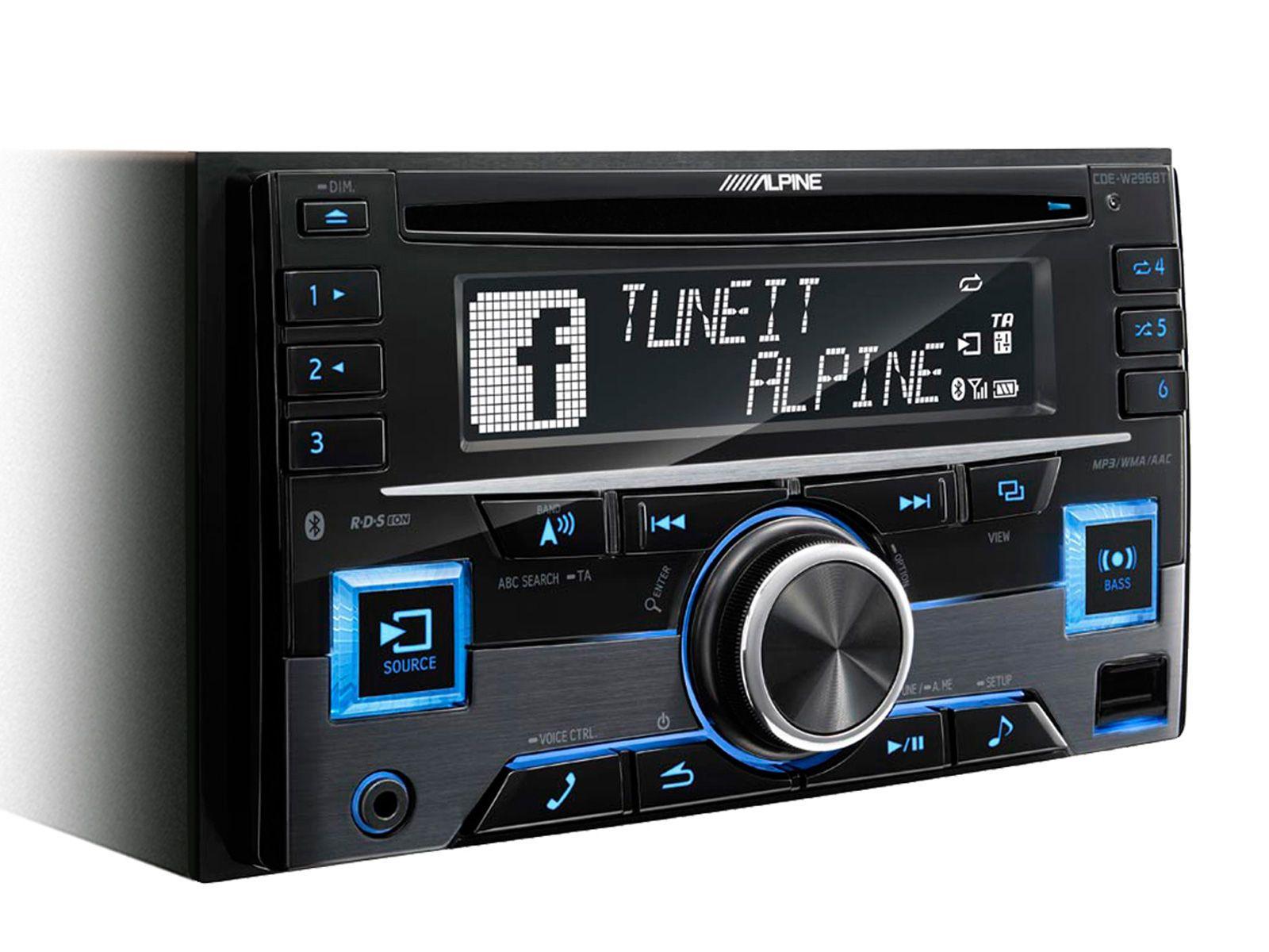 ALPINE  2-DIN CD-Tuner »CDE-W296BT«