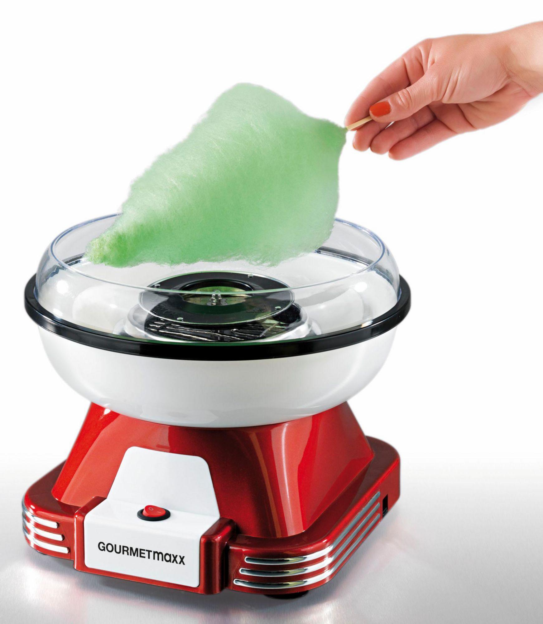 GOURMETMAXX Gourmet Maxx Zuckerwatte-Maschine, 500 Watt, rot/weiß