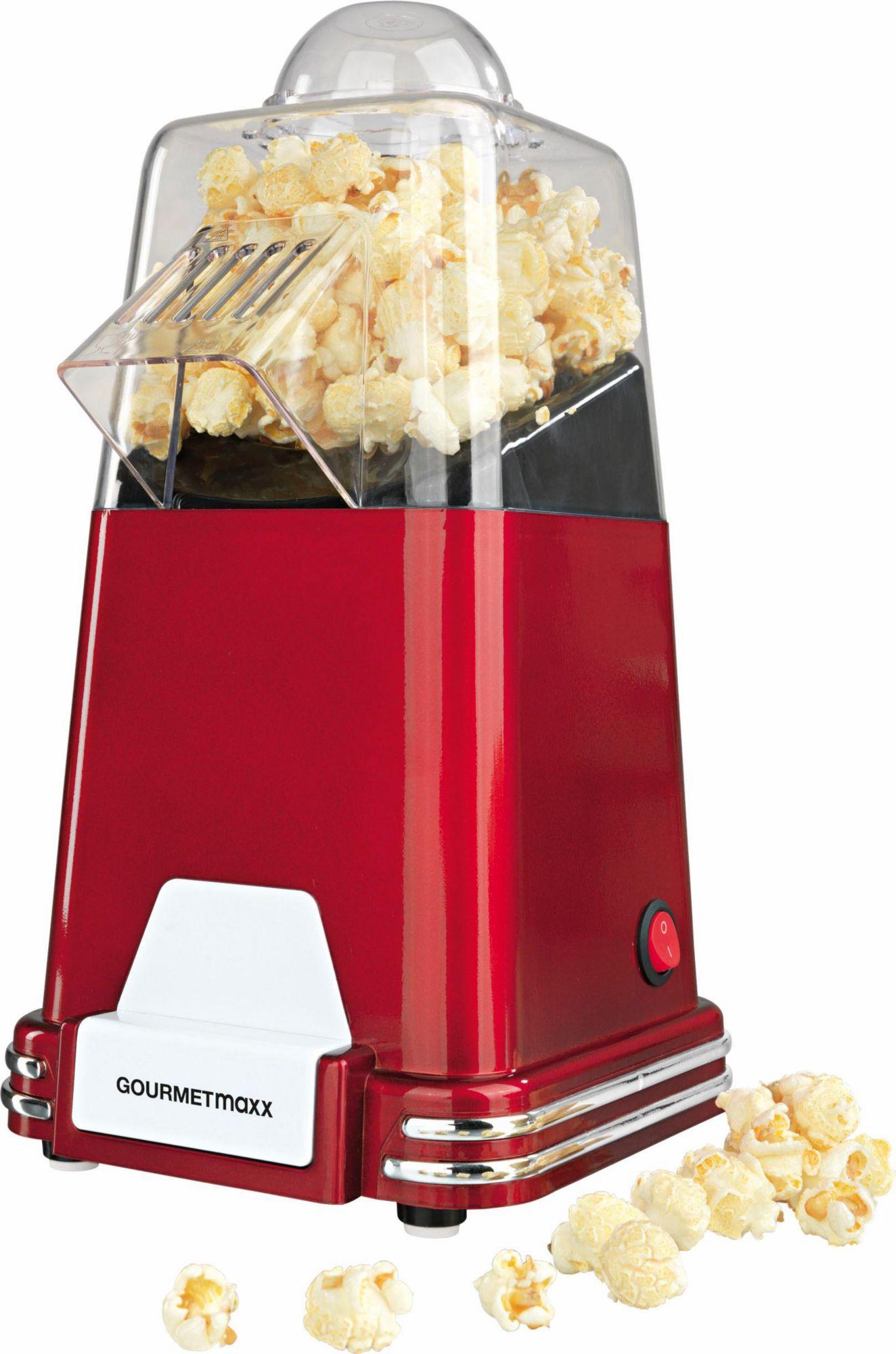 GOURMETMAXX Gourmet Maxx Popcorn-Maschine, 1000 Watt, rot