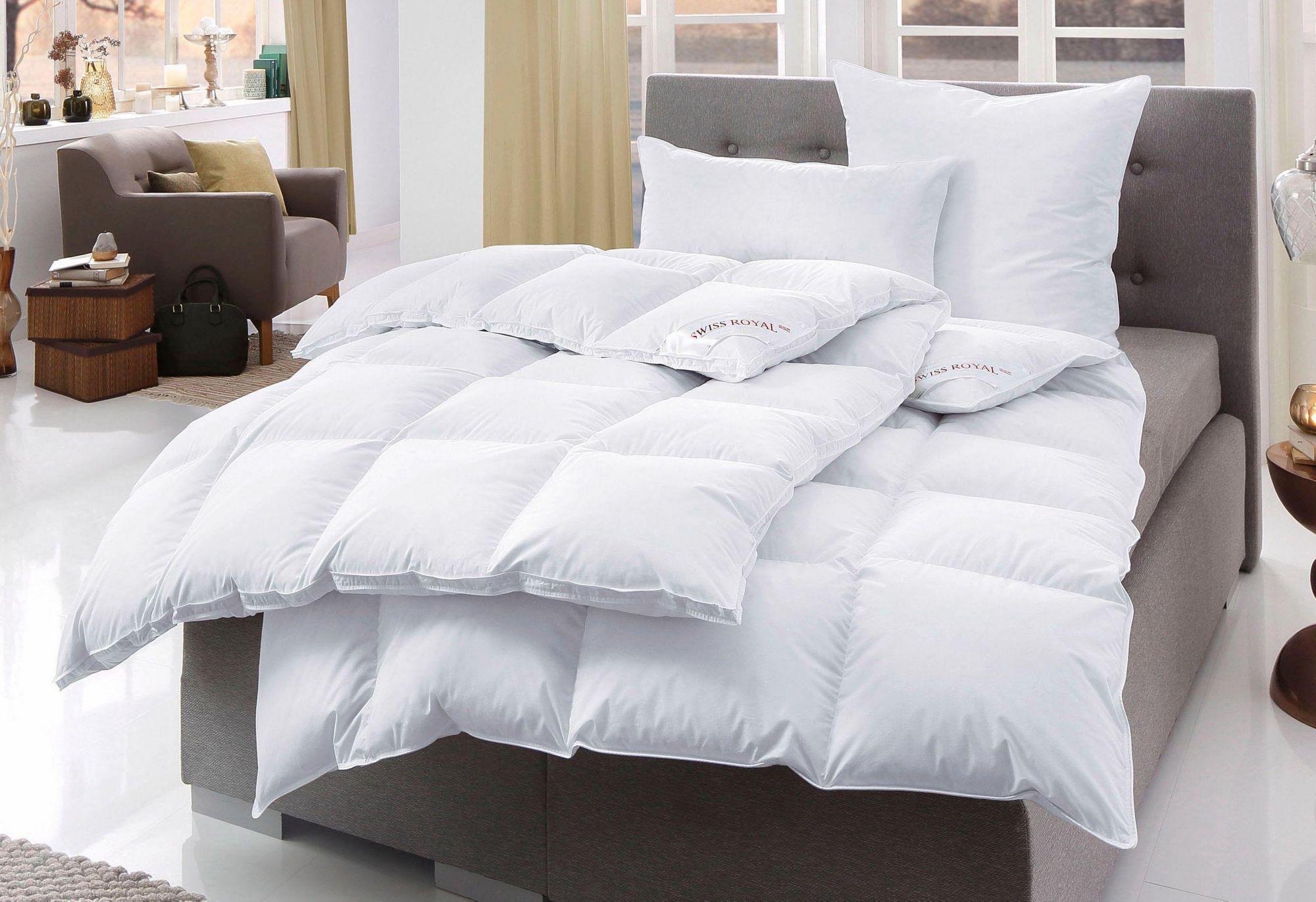 HÄUSSLING Bettdeckenset, »Swiss Royal«, Häussling, Extra Warm, 90% Daunen, 10% Federn