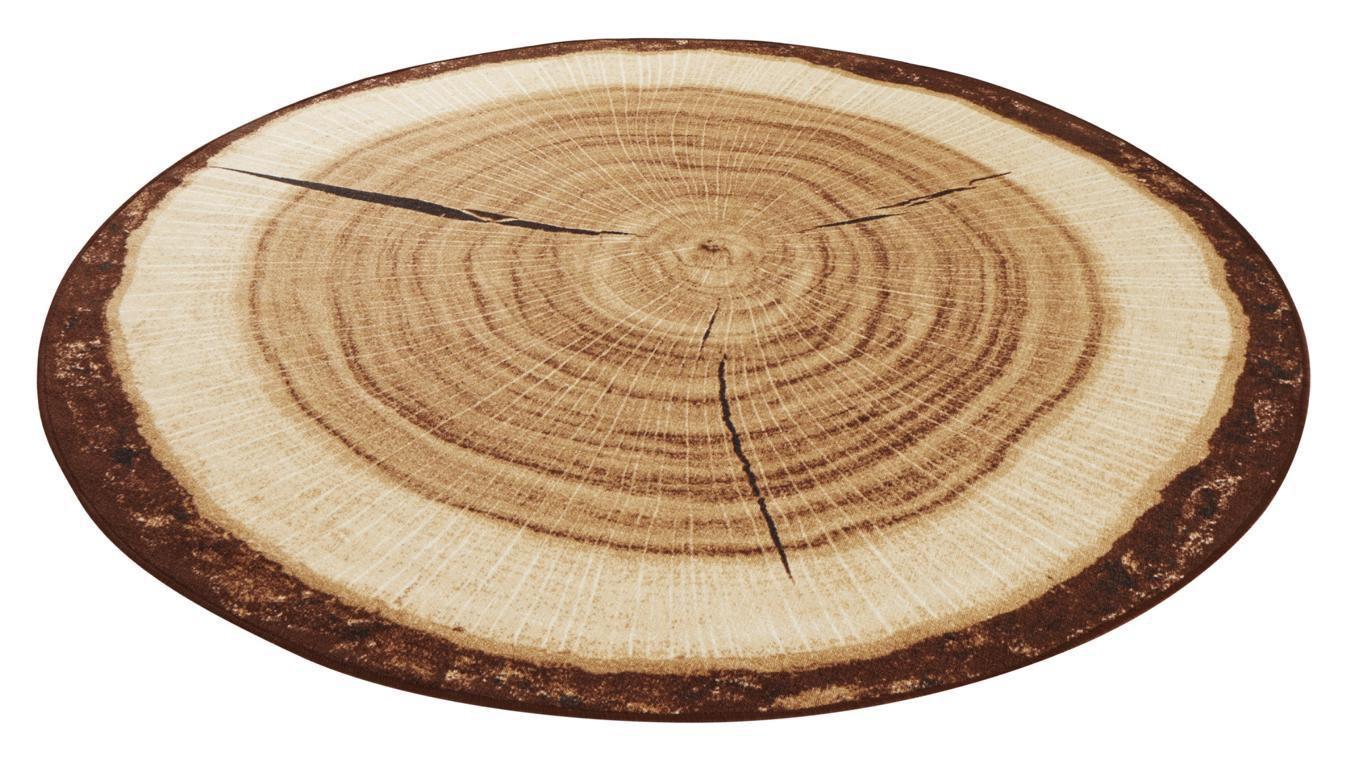Teppich, »Baumstamm«, Hanse Home, rund, Höhe 6 mm, maschinell getuftet