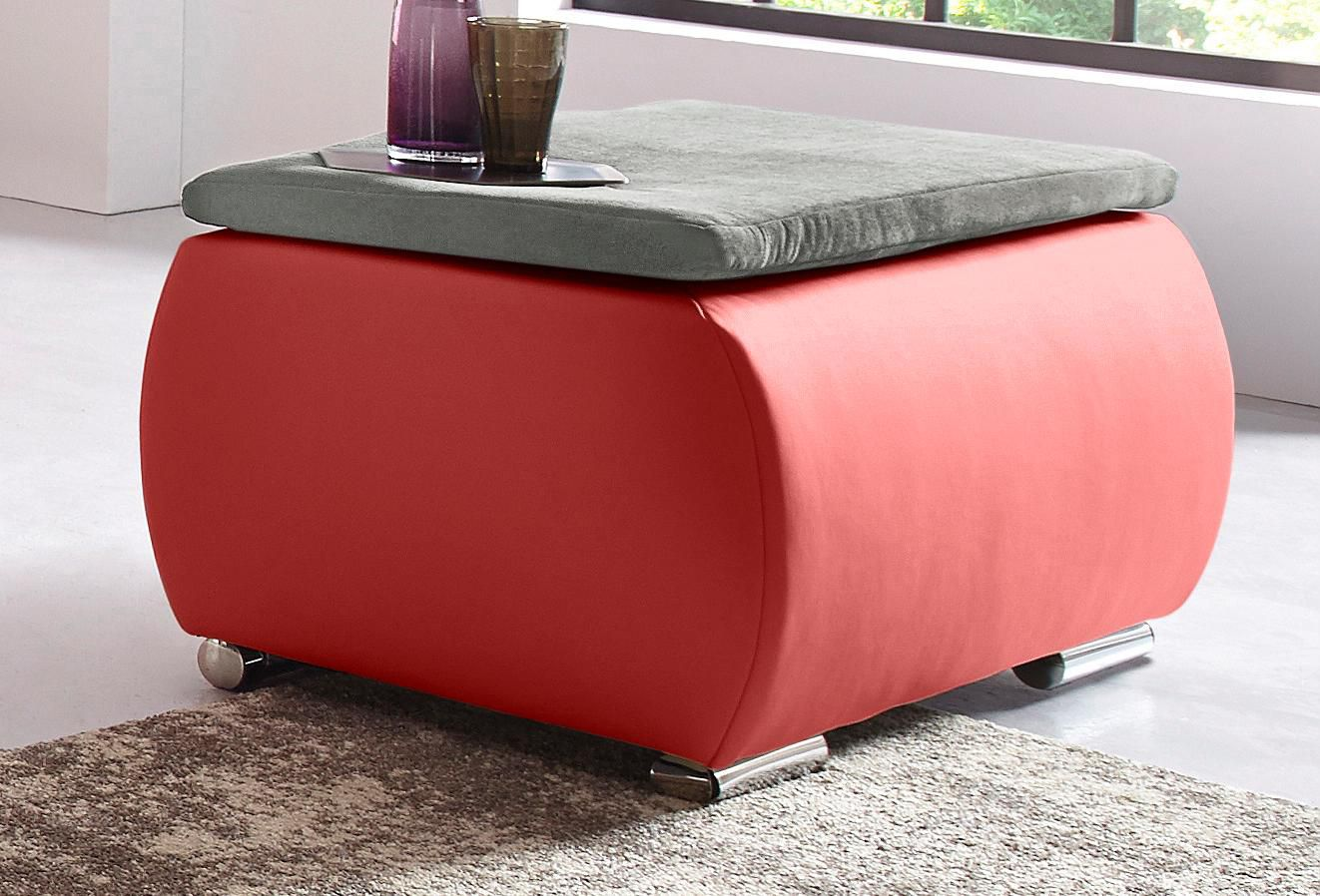 COLLECTION AB Collection AB Polsterhocker mit Boxspring-Aufbau