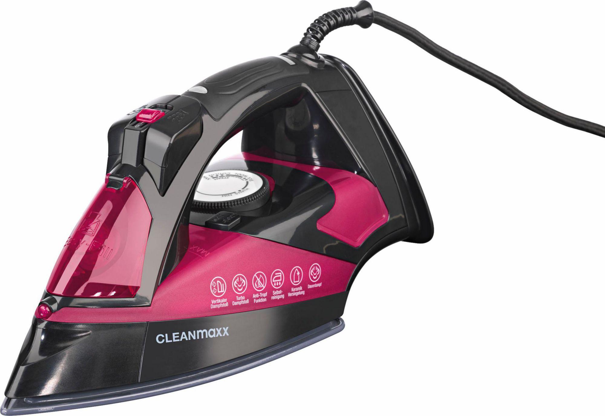 CLEAN MAXX Clean Maxx Dampfbügeleisen, Nano-Keramik, 2600 Watt