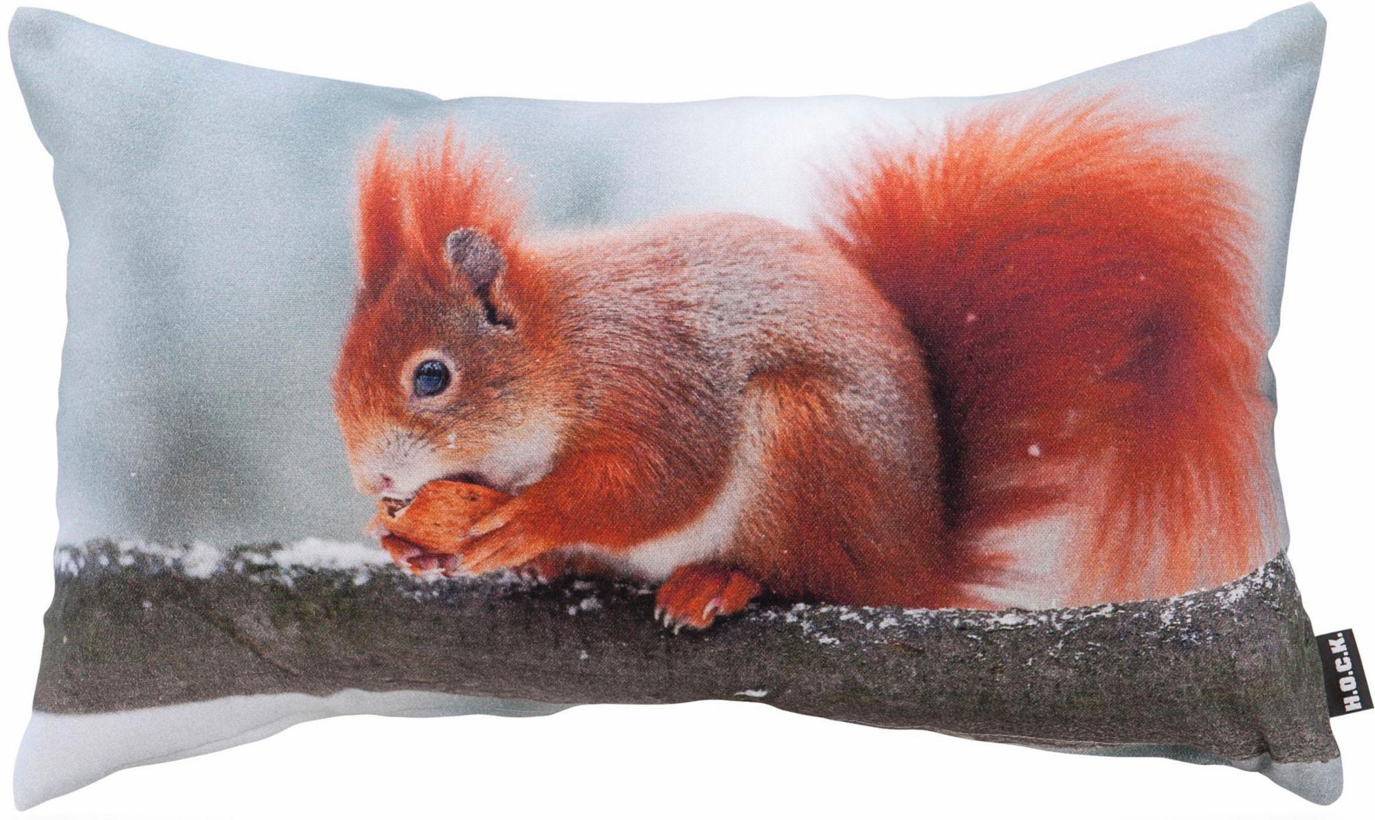 HOCK Hock Kissen mit Eichhörnchenmotiv