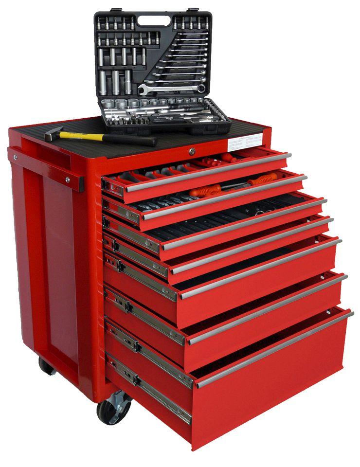 FAMEX Werkstattwagen mit umfangreicher Werkzeugbestückung » 843-40«