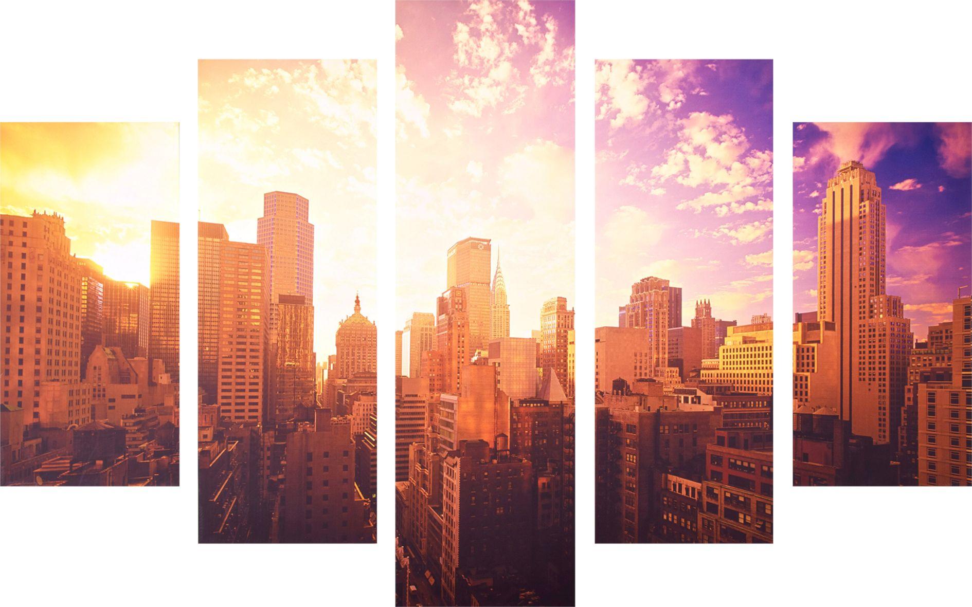 GRAHAM BROWN GRAHAM & BROWN Leinwandbild »New York, 5er-Set«