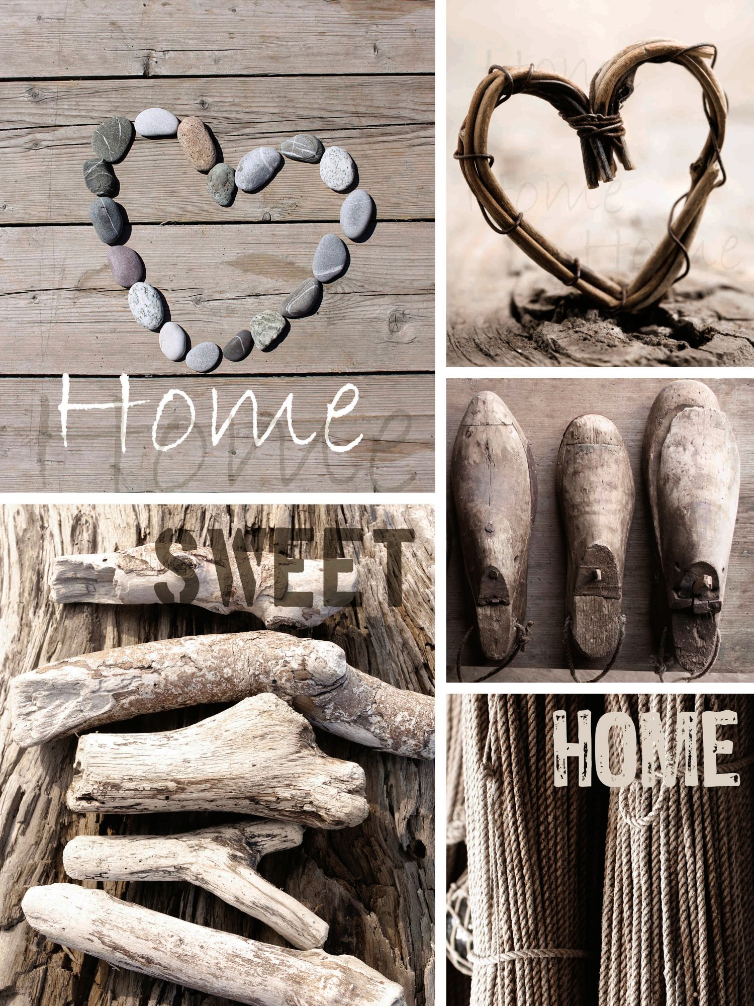 GRAHAM BROWN GRAHAM & BROWN Leinwandbild »Home Sweet Home, 5-tlg.«
