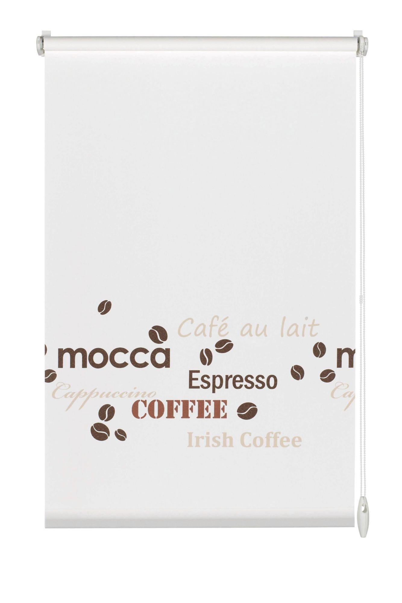 GARDINIA Easyfix-Rollo, Gardinia, »Dekor Coffee«, ohne Bohren, Lichtschutz