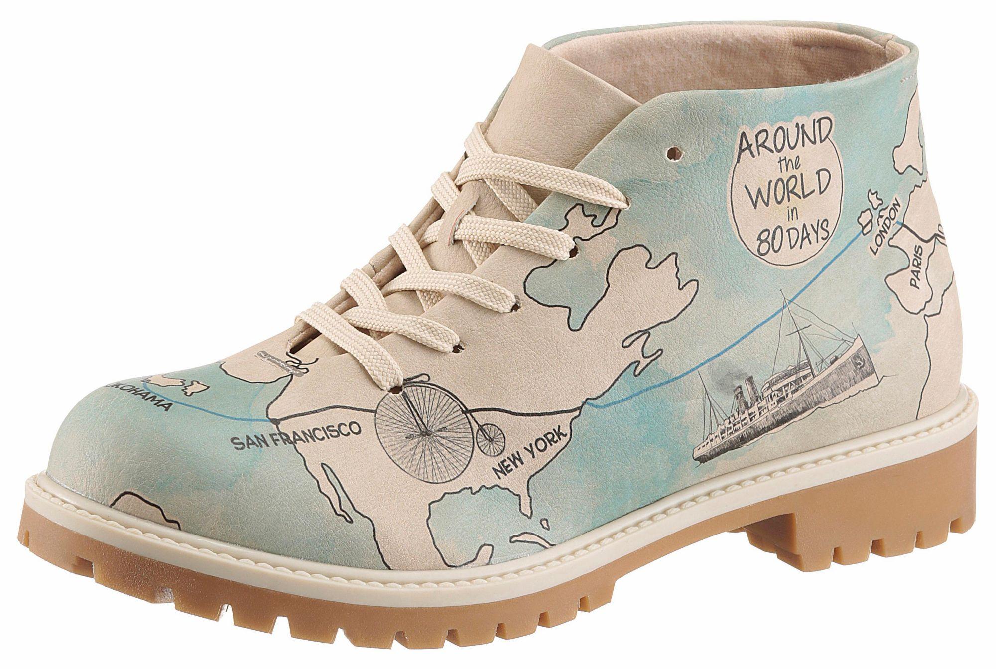 DOGO  Schnürboots »All around the world in 80 days«