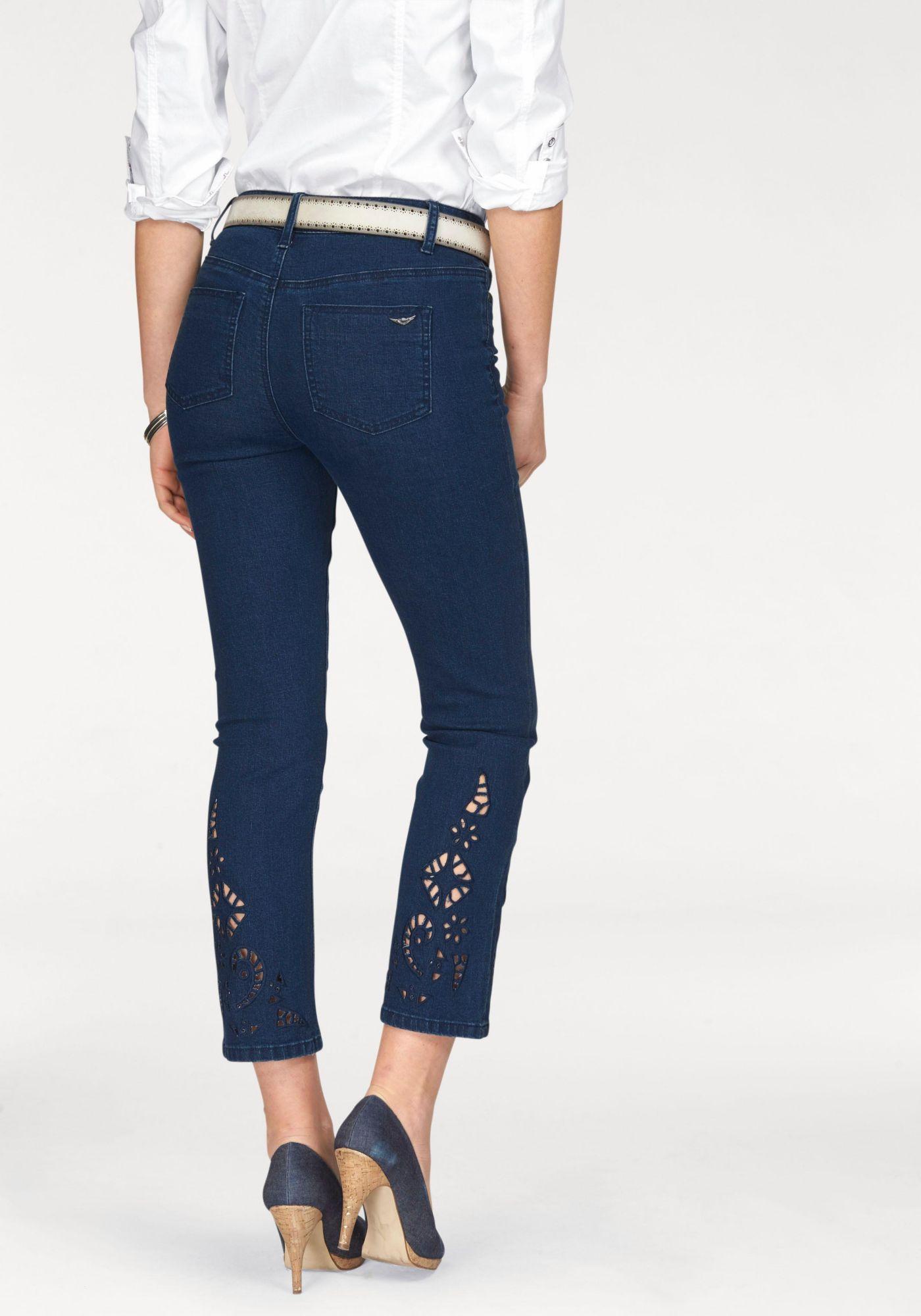 ARIZONA Arizona 7/8-Jeans »mit Lochstickerei«