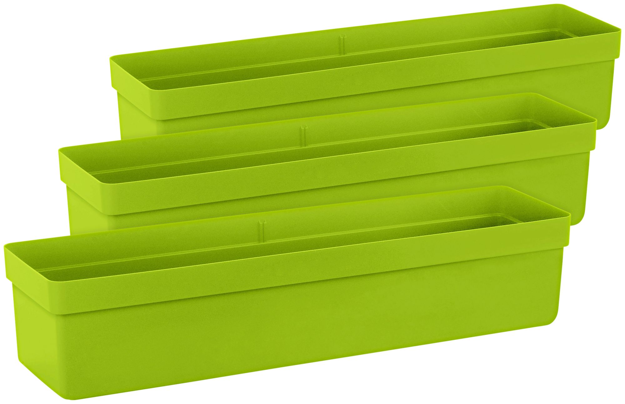 EMSA Emsa Blumenkasten »CITY CLA Kasten«, BxTxH: 75x20x16 cm, grün