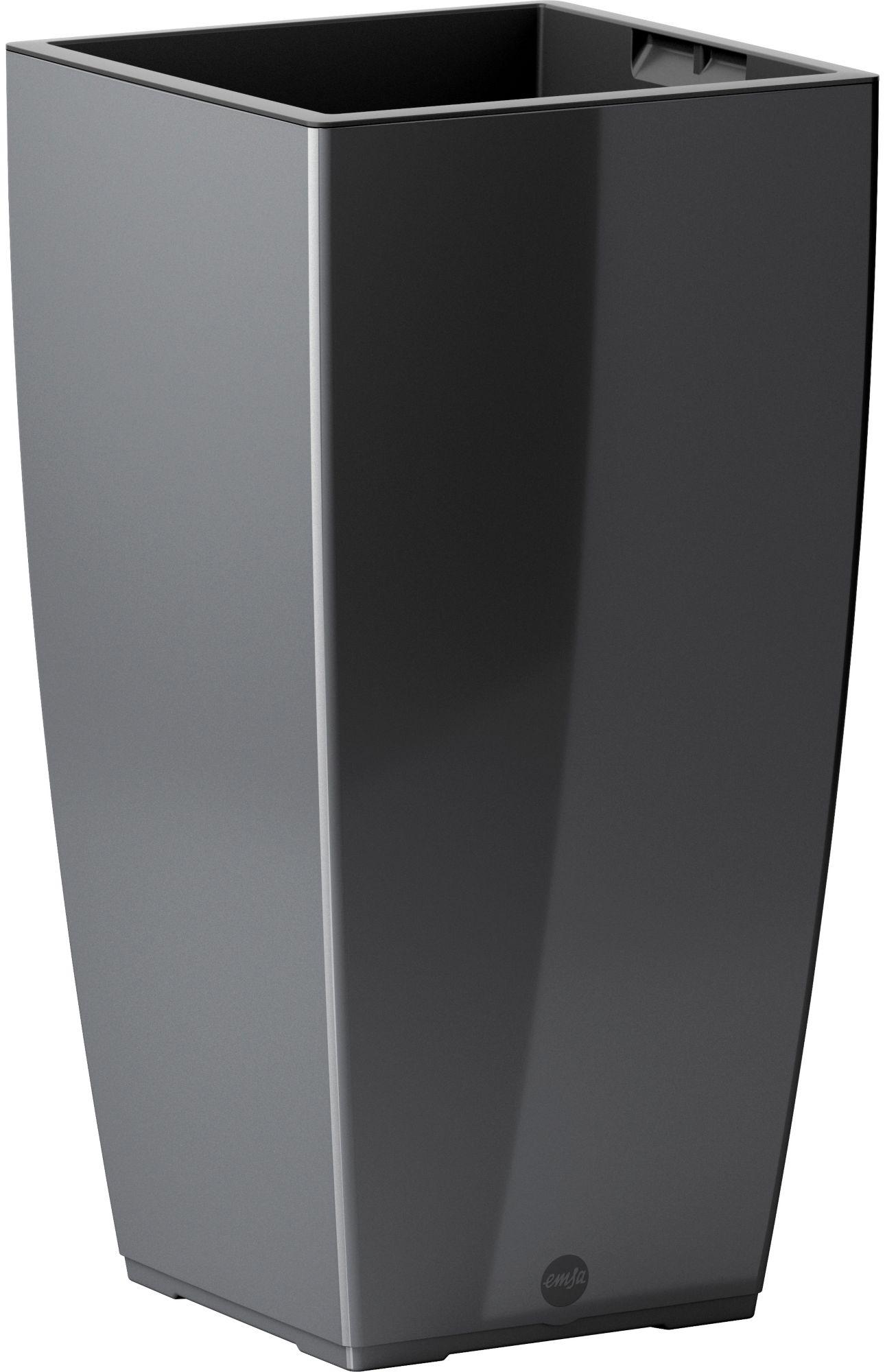 EMSA Blumenkasten »CASA Brilliant Säule«, BxTxH: 30x30x57 cm, granit
