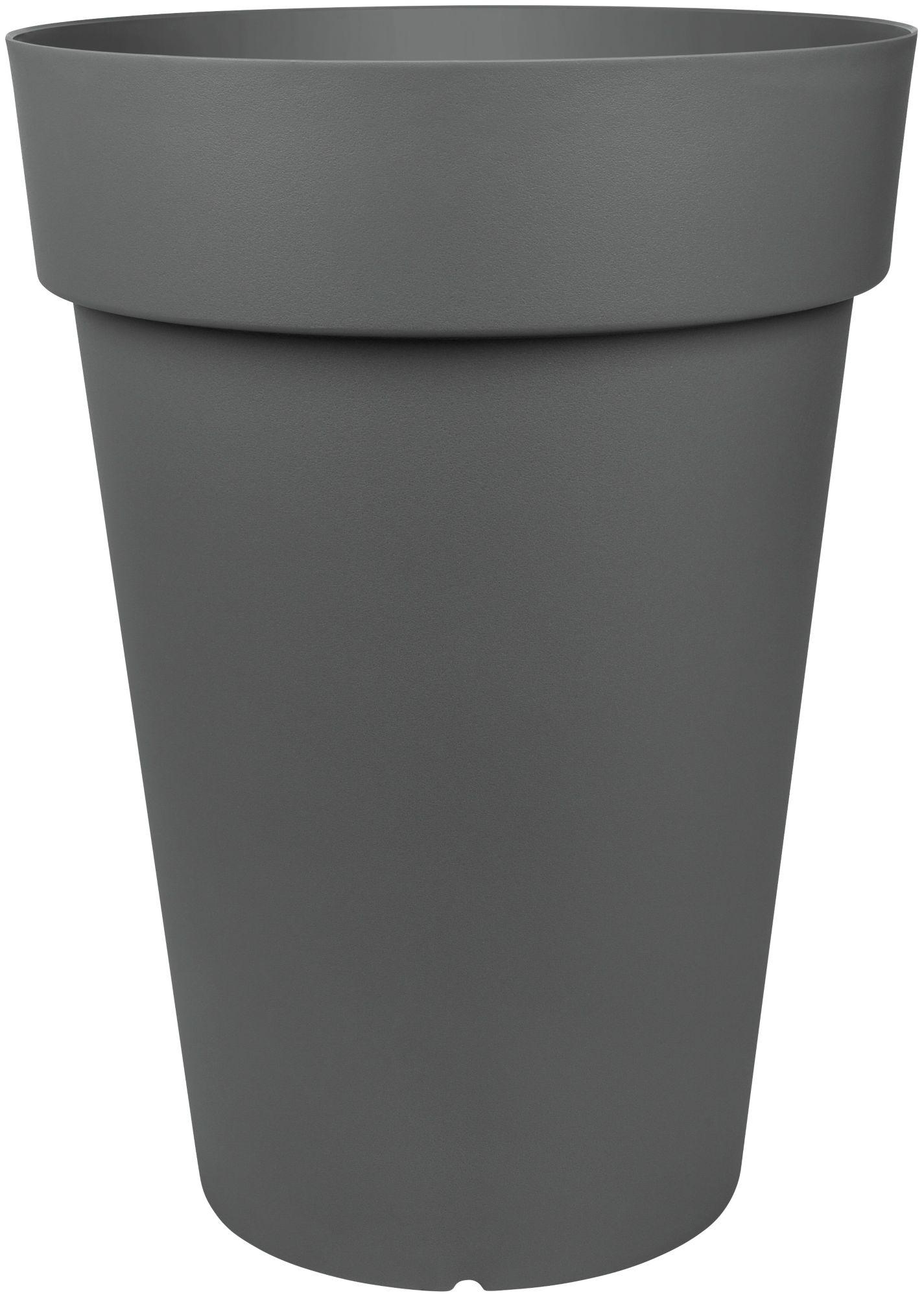 EMSA Emsa Blumenkasten »CITY CLASSIC Kübel«, Ø/H: 40/52 cm, granit