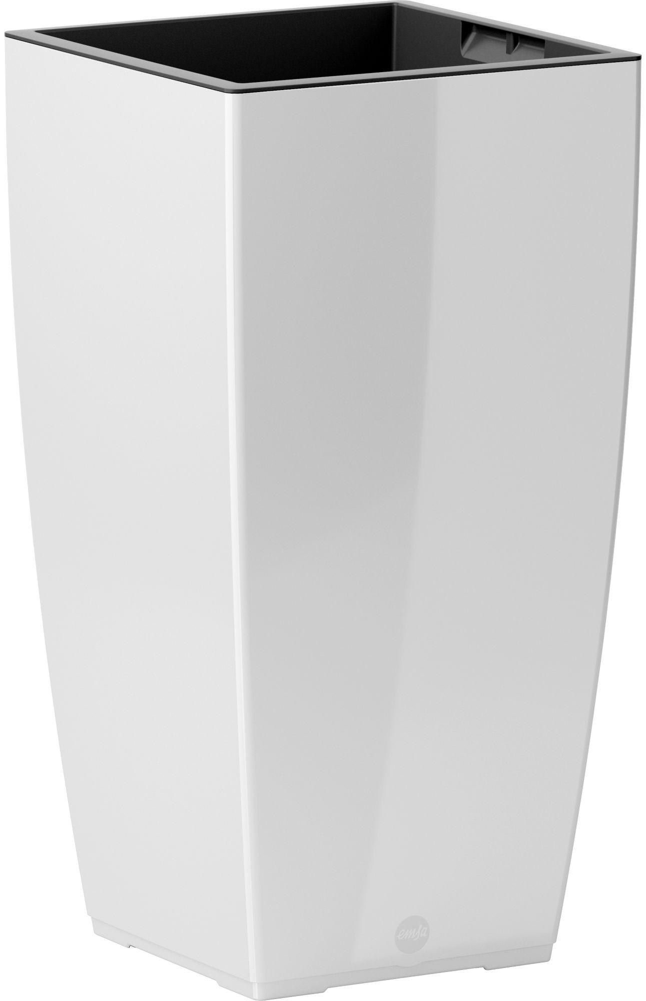 EMSA Emsa Blumenkasten »CASA Brilliant Säule«, BxTxH: 30x30x57 cm, weiß