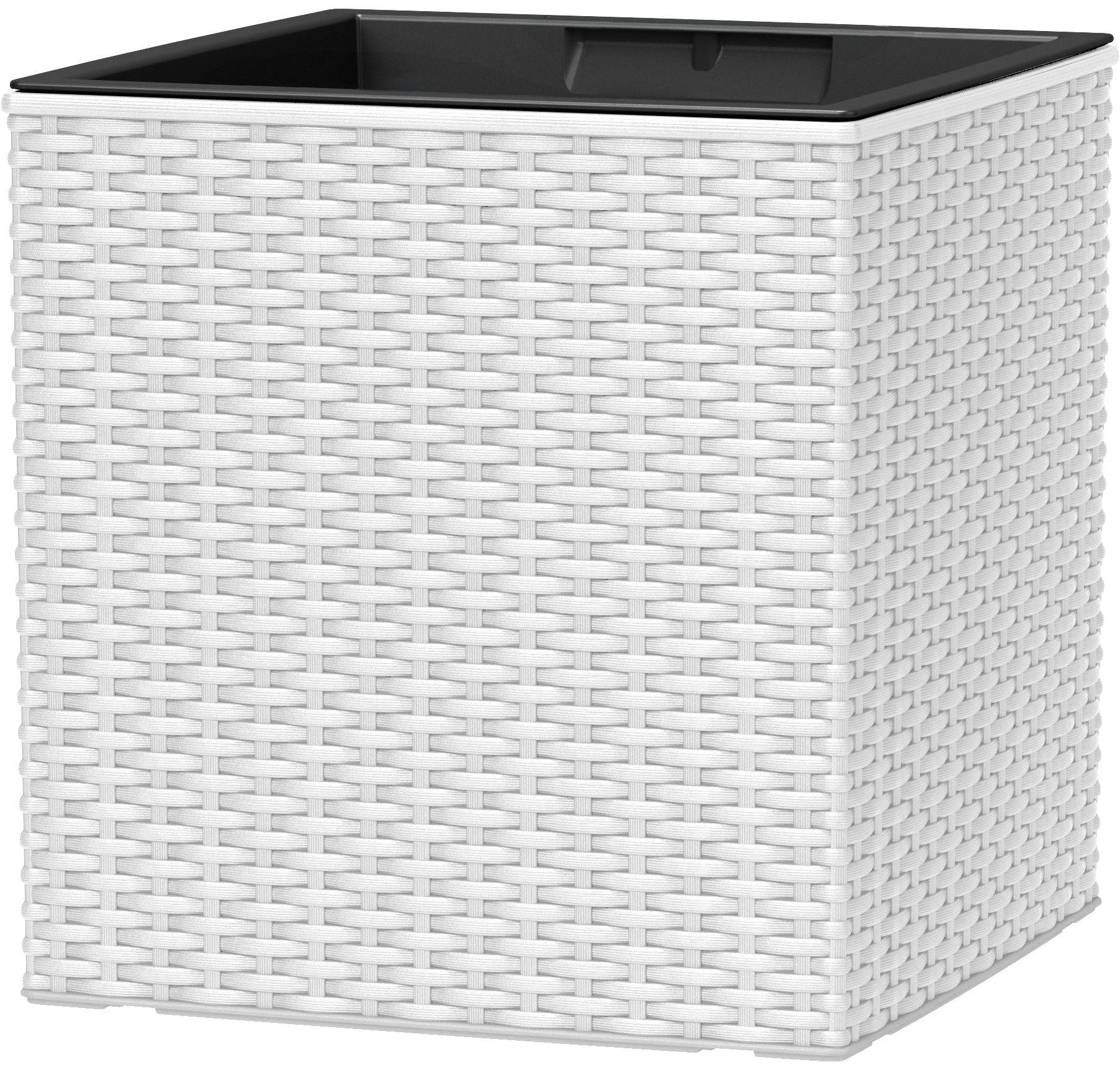 EMSA Blumenkasten »CASA MESH Würfel«, BxTxH: 30x30x31cm, weiß