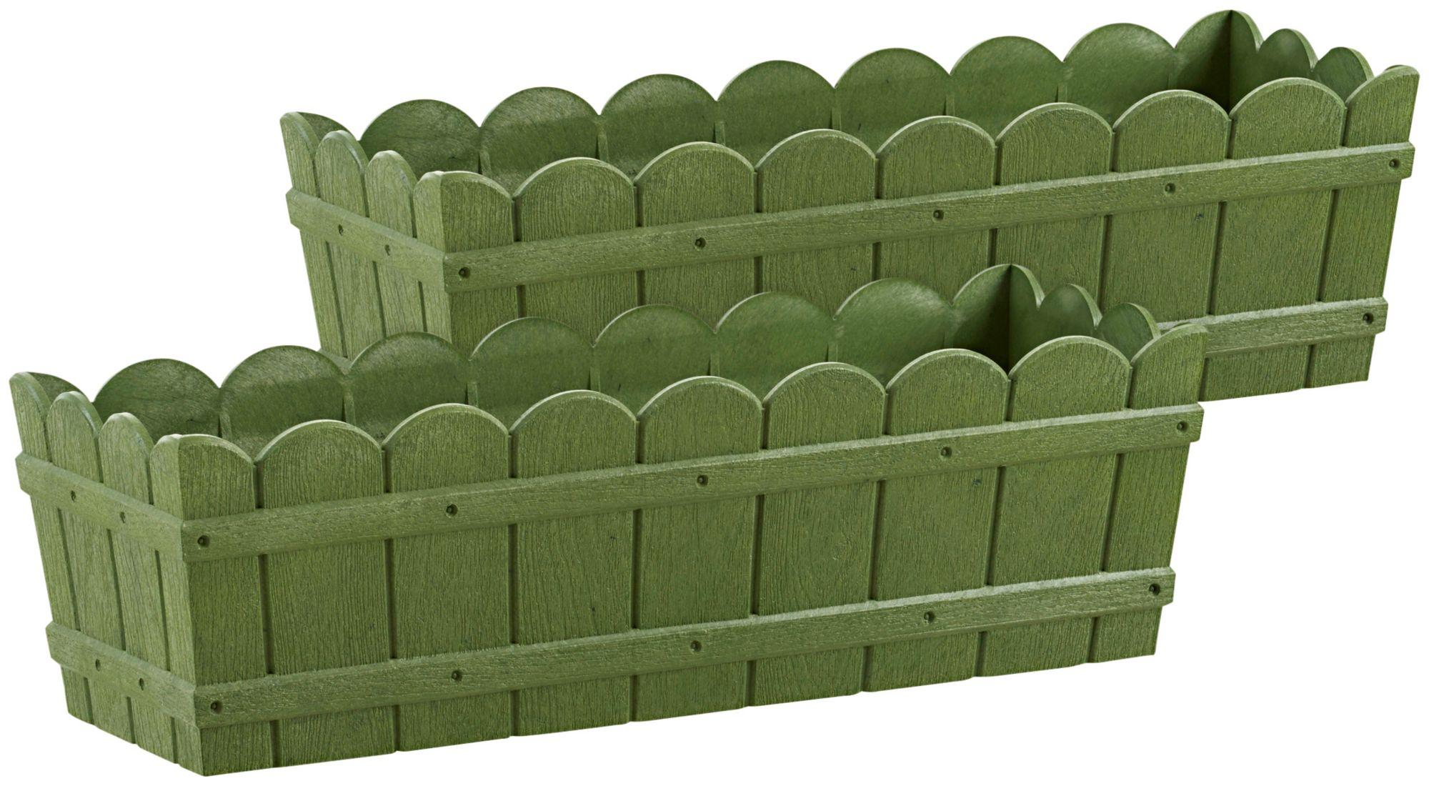 EMSA Emsa Blumenkasten »COUNTRY«, 2er-Set, BxTxH: 50x17,5x15,5 cm, grün