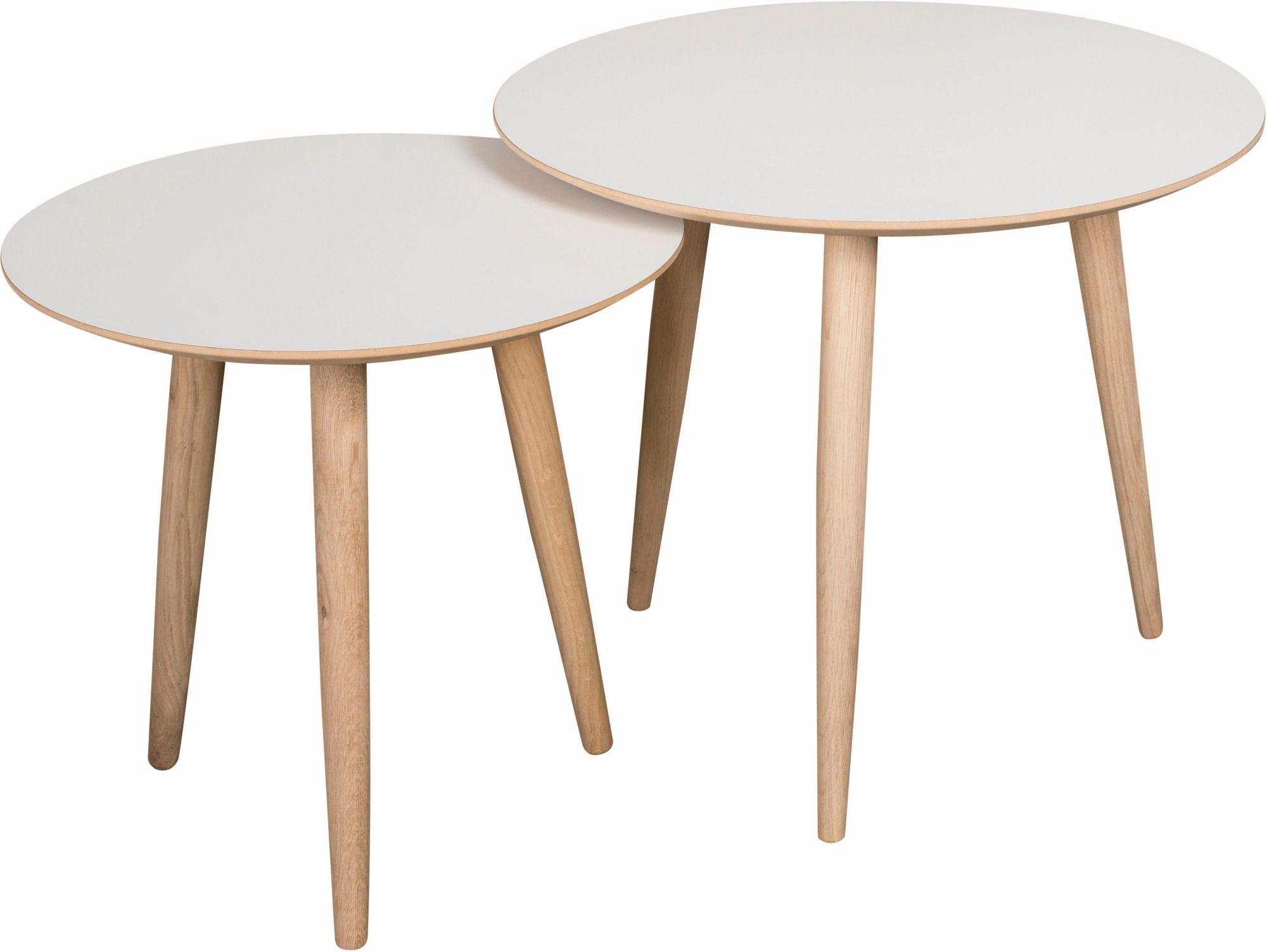 ANDAS andas Couchtisch-Set «Yvonne», 2 runde Tische in 2 Größen zu Auswahl