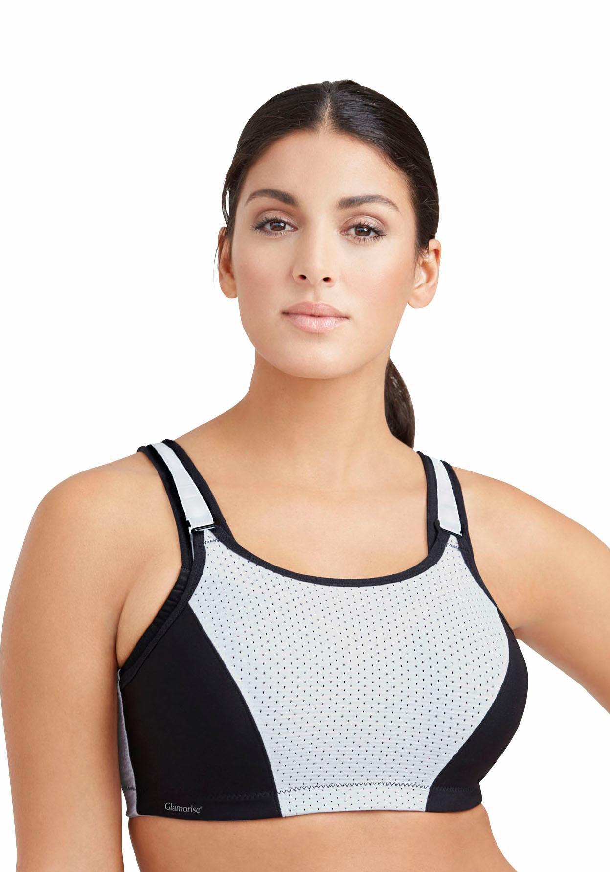 GLAMORISE Glamorise verstellbarer Sport-BH >>9166<< mit Bügel für Sportarten starker Belastbarkeit