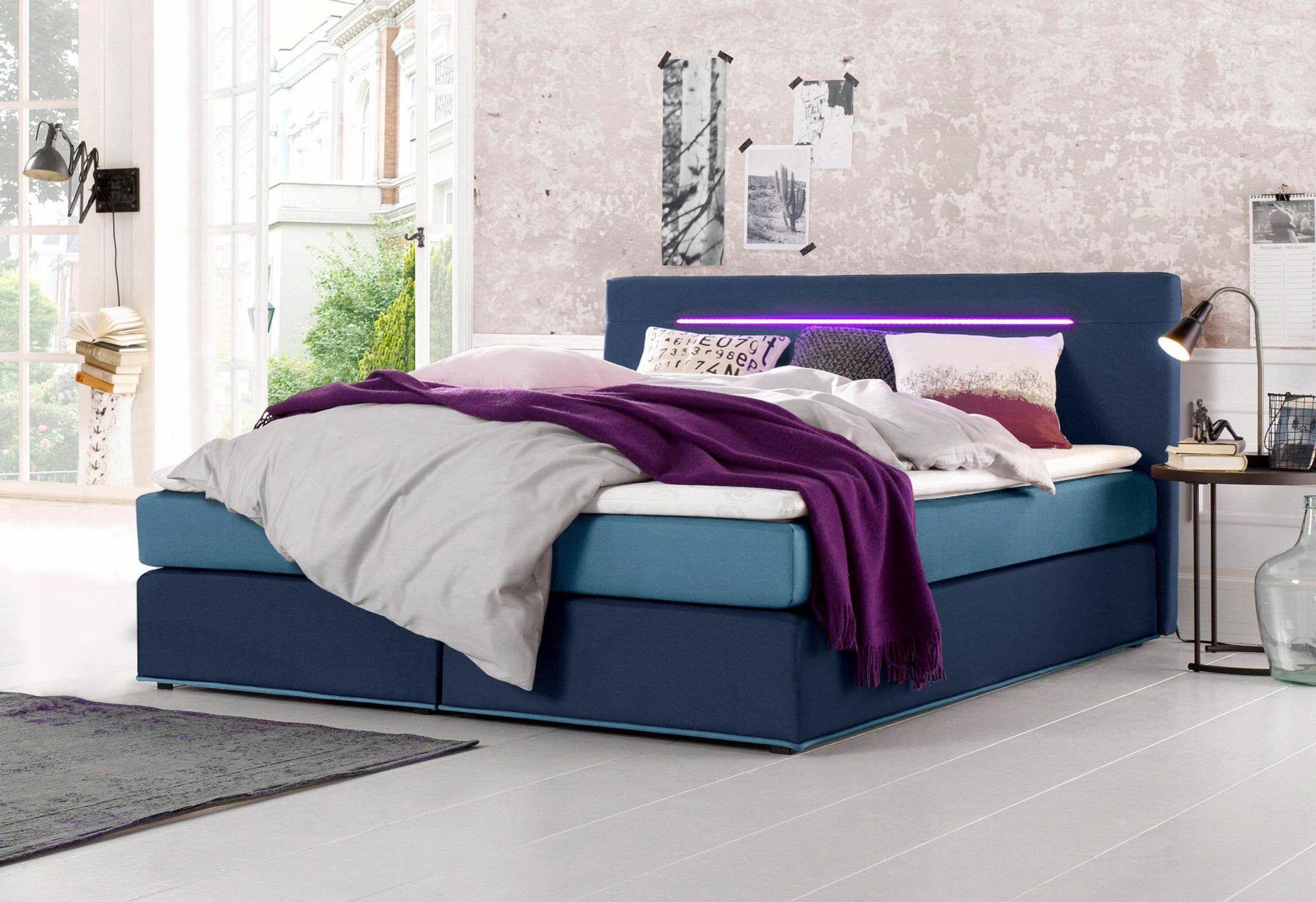 COLLECTION AB Collection AB Boxspringbett inkl. LED-Beleuchtung und Topper