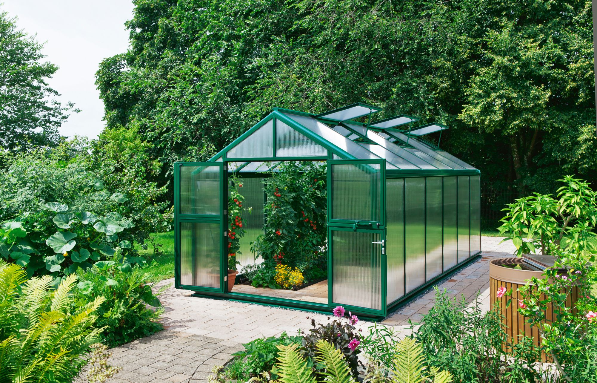 BECKMANN  Gewächshaus »Allplanta 6 GE«, BxT: 300x409 cm, grün