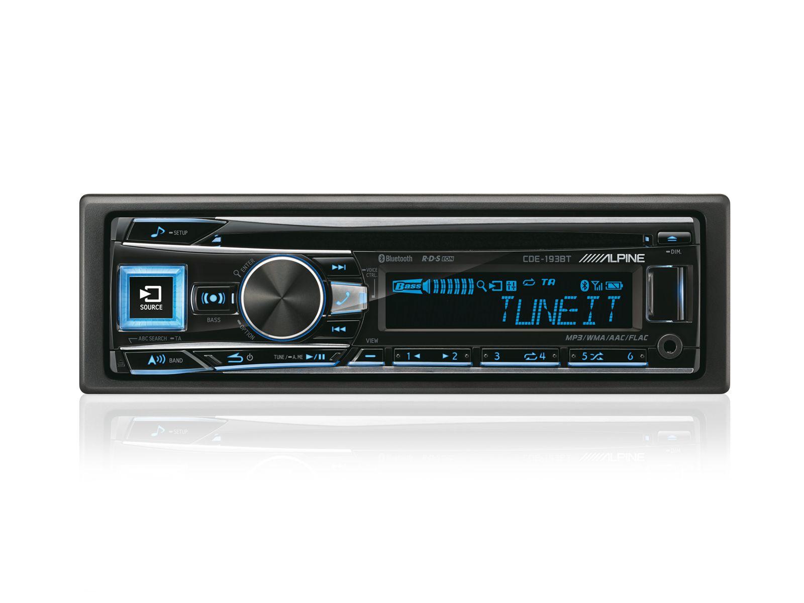 ALPINE  1-DIN CD-Tuner »CDE-193BT«