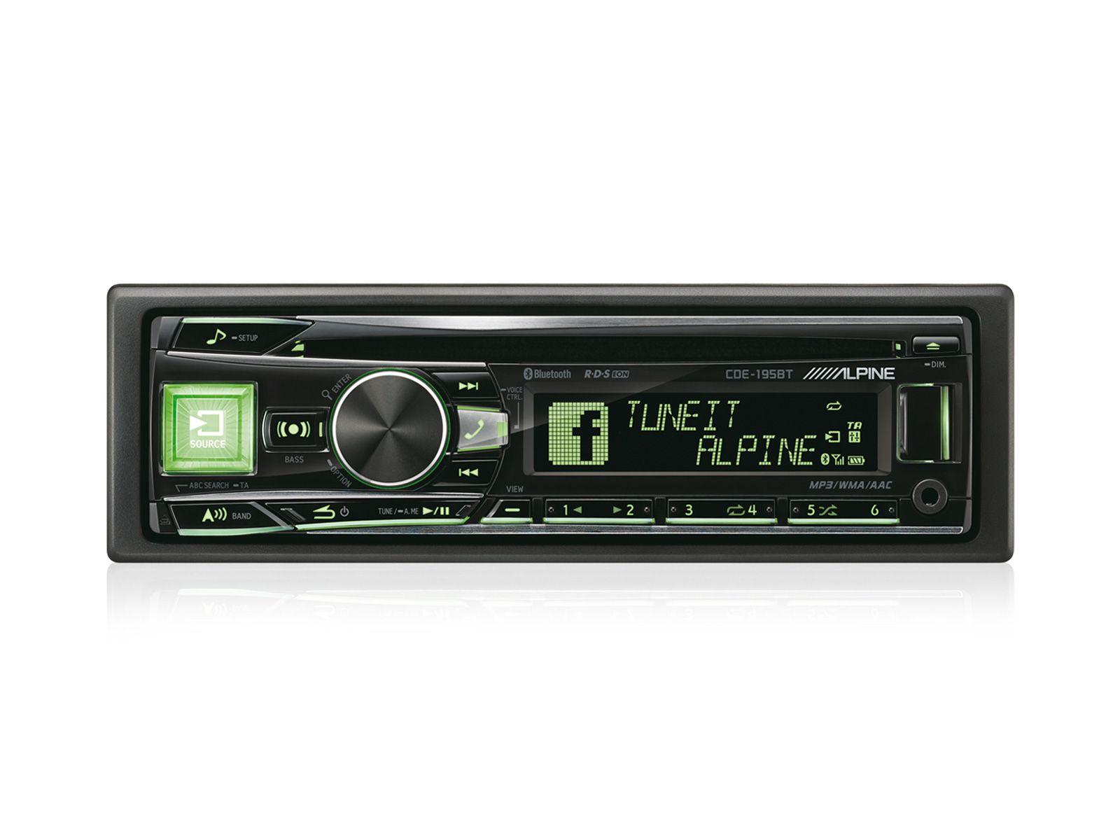 ALPINE  1-DIN CD-Tuner »CDE-195BT«