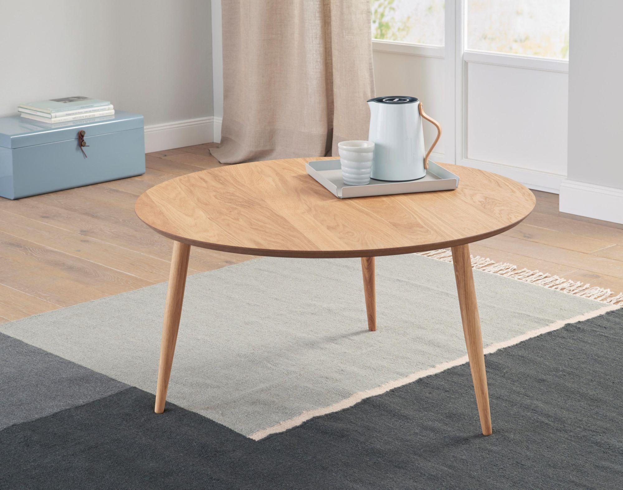 ANDAS andas Couchtisch «Voa», mit runder Tischplatte