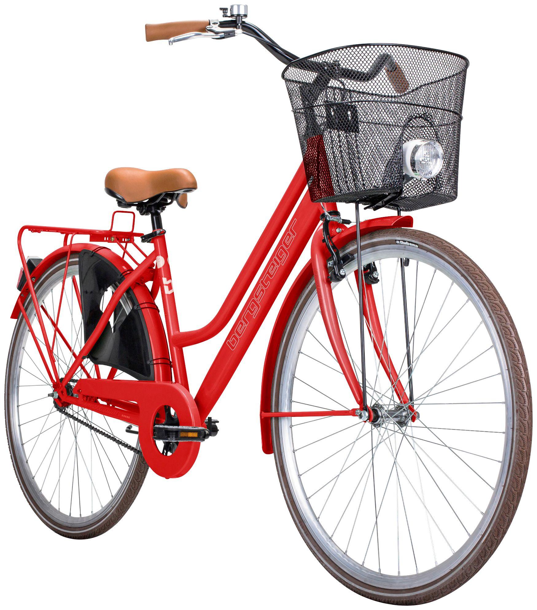 BERGSTEIGER Bergsteiger Citybike Damen »Amsterdam«, 28 Zoll, 1 Gang, V-Bremsen