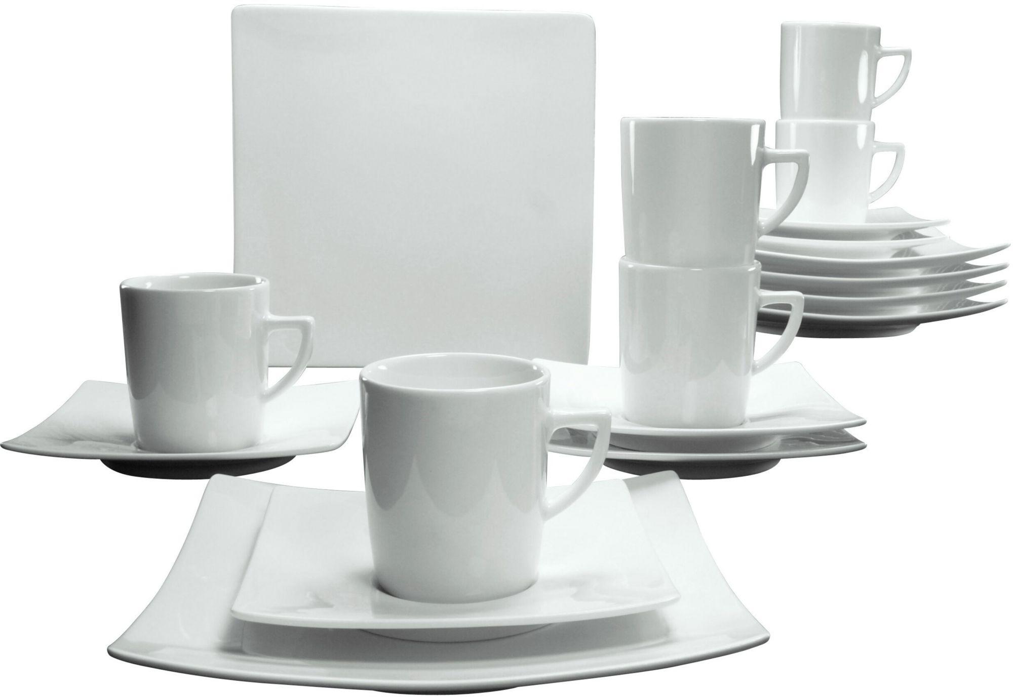 CREATABLE CreaTable Kaffeeservice, Porzellan, 18 Teile, »NEW ELEGANCE«