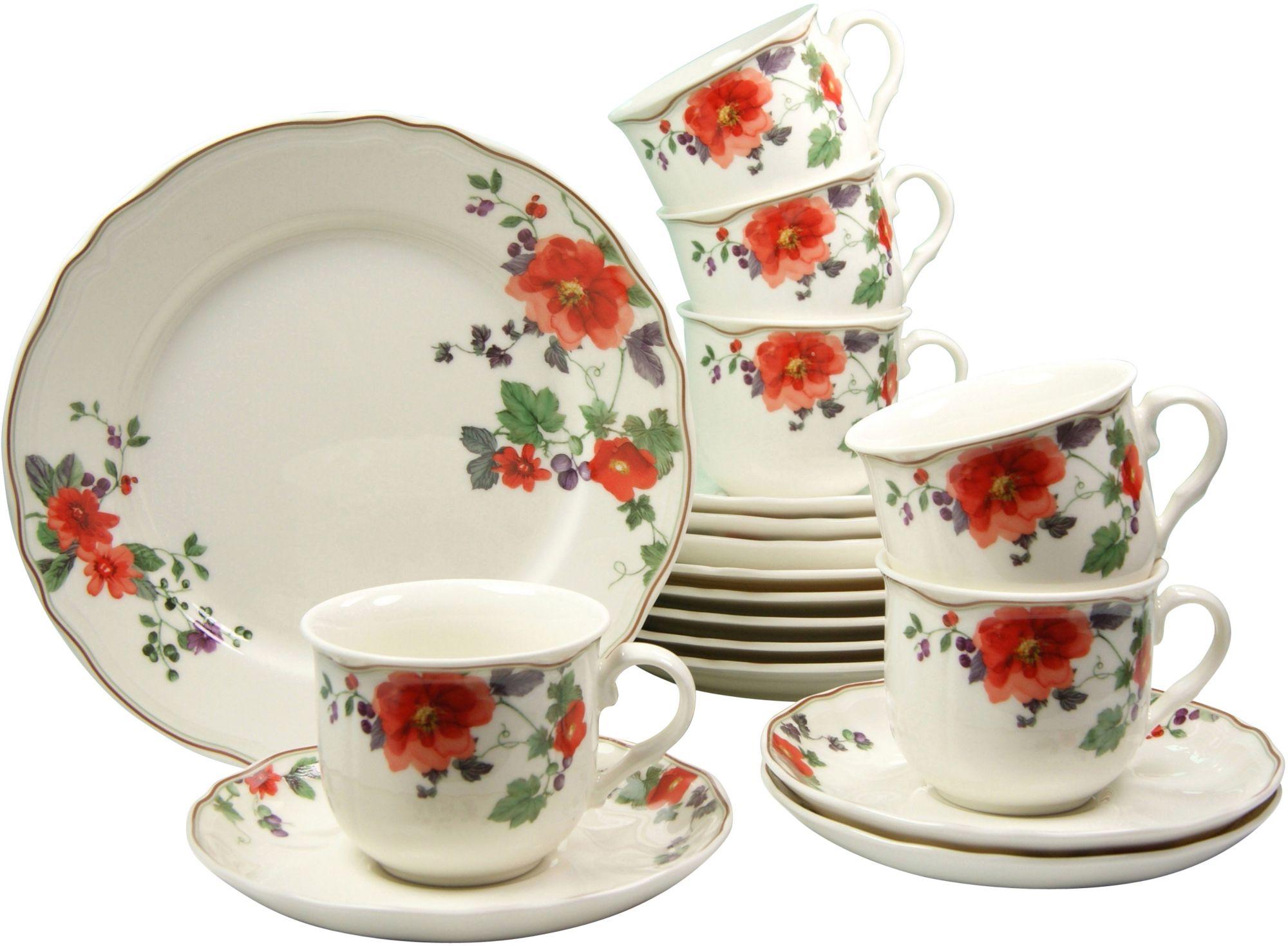 CREATABLE CreaTable Kaffeeservice, Premium Porzellan, 18 Teile, »MERAN«