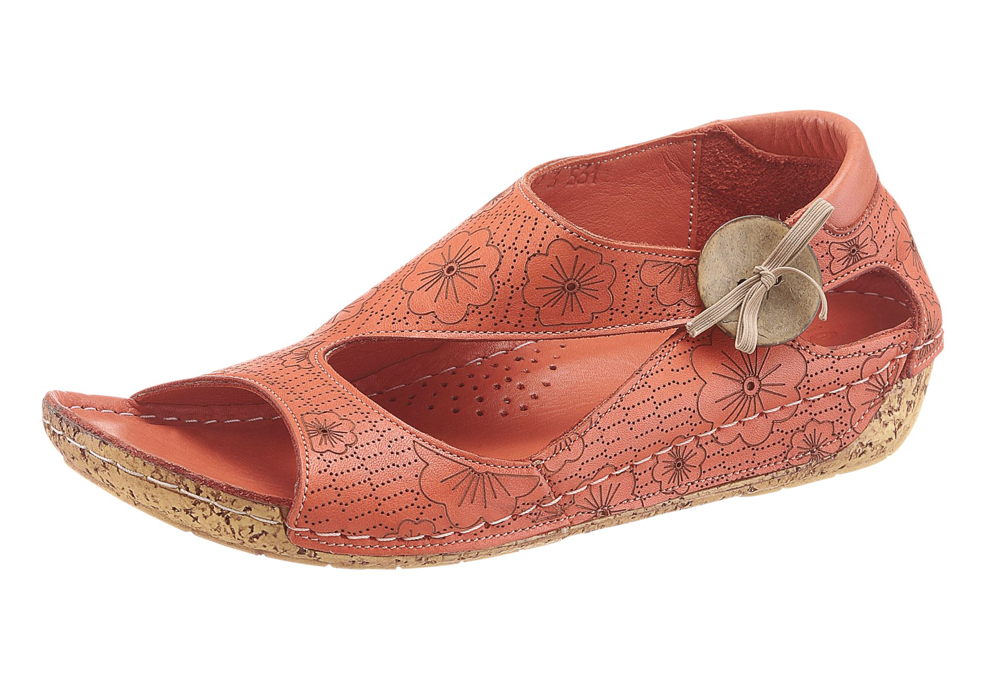 GEMINI Gemini Sandalette mit Blumen-Muster