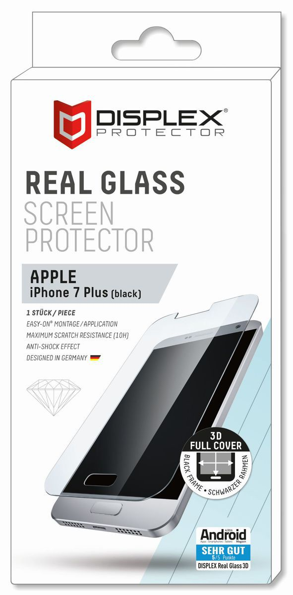 DISPLEX Displex Folie »Vollflächiges Displayschutzglas iPhone 7 Plus«
