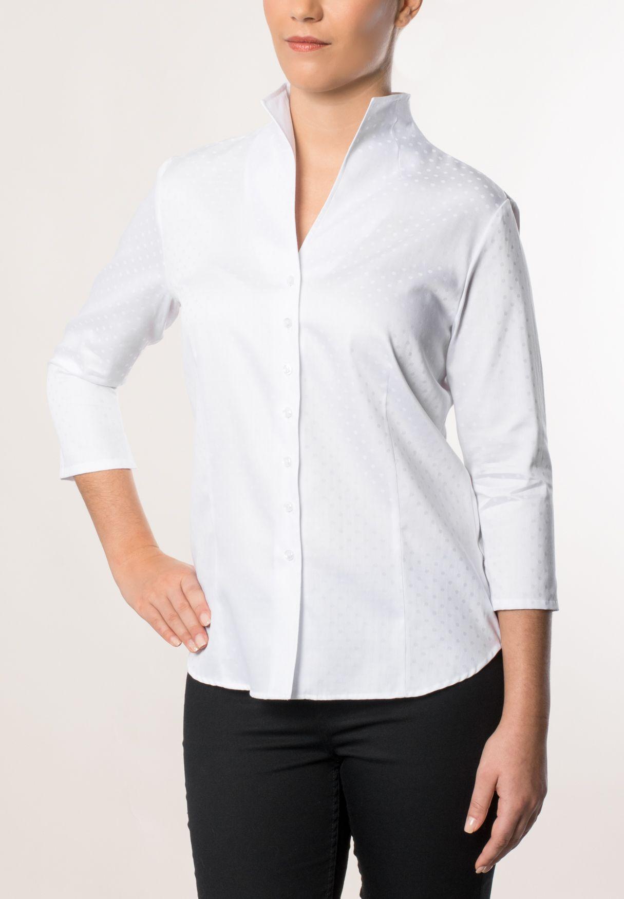 ETERNA  3/4-Arm Bluse »COMFORT FIT unifarben«
