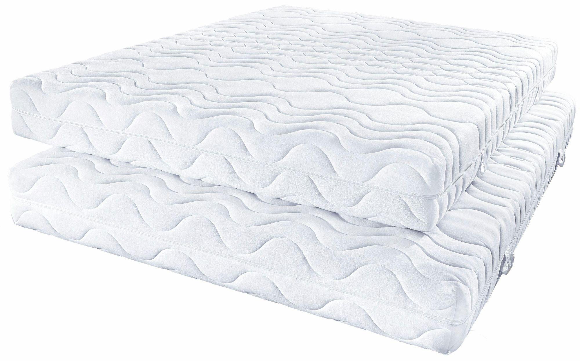 BECO Komfortschaummatratze, »Frottee KS & Deluxe«, BeCo, Raumgewicht: 28, in 2 Höhen, das Schnäppchen für ihr Doppelbett