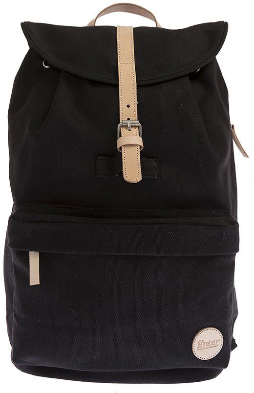 ENTER Enter Rucksack mit Kordelzug, »Day Hiker Backpack Lite, Black/Natural Leather«