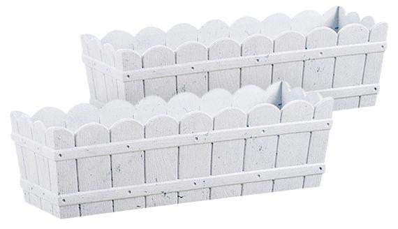 EMSA  Blumenkasten »COUNTRY«, 2er-Set, BxTxH: 50x17,5x15,5 cm, weiß